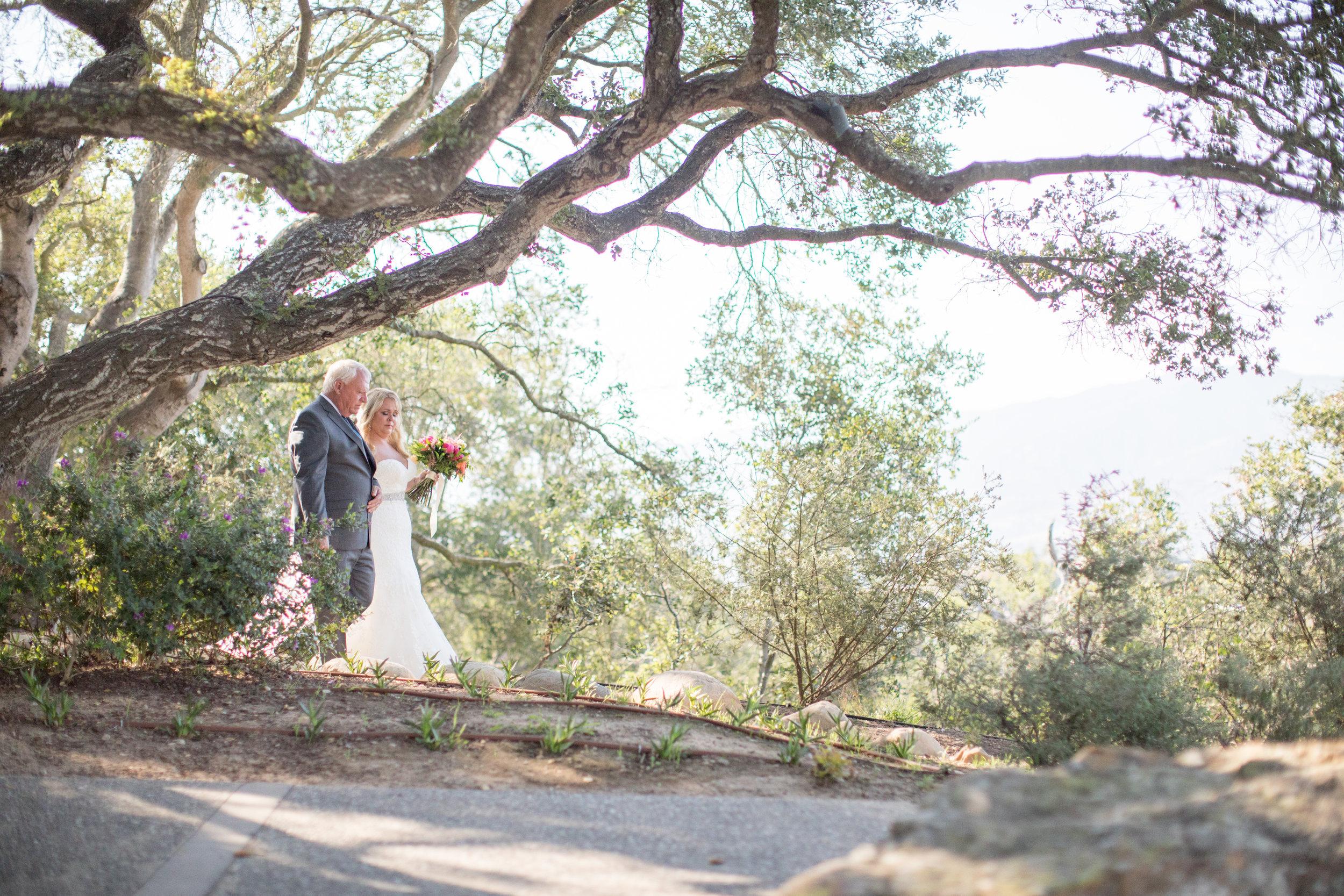 www.santabarbarawedding.com | Elings Park | Waller Weddings | Bride and Father walking down aisle