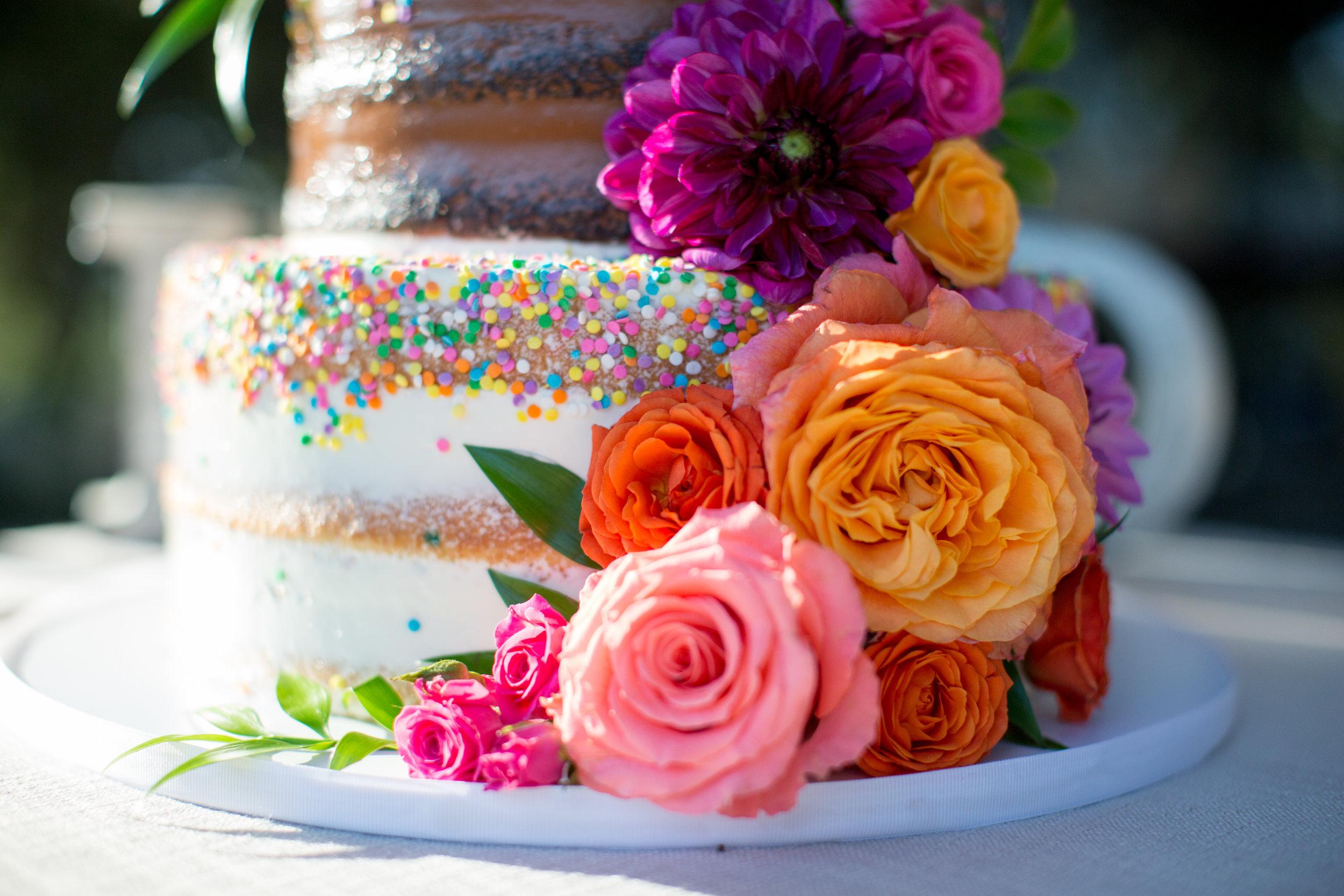 www.santabarbarawedding.com | Elings Park | Waller Weddings | Wedding Cake