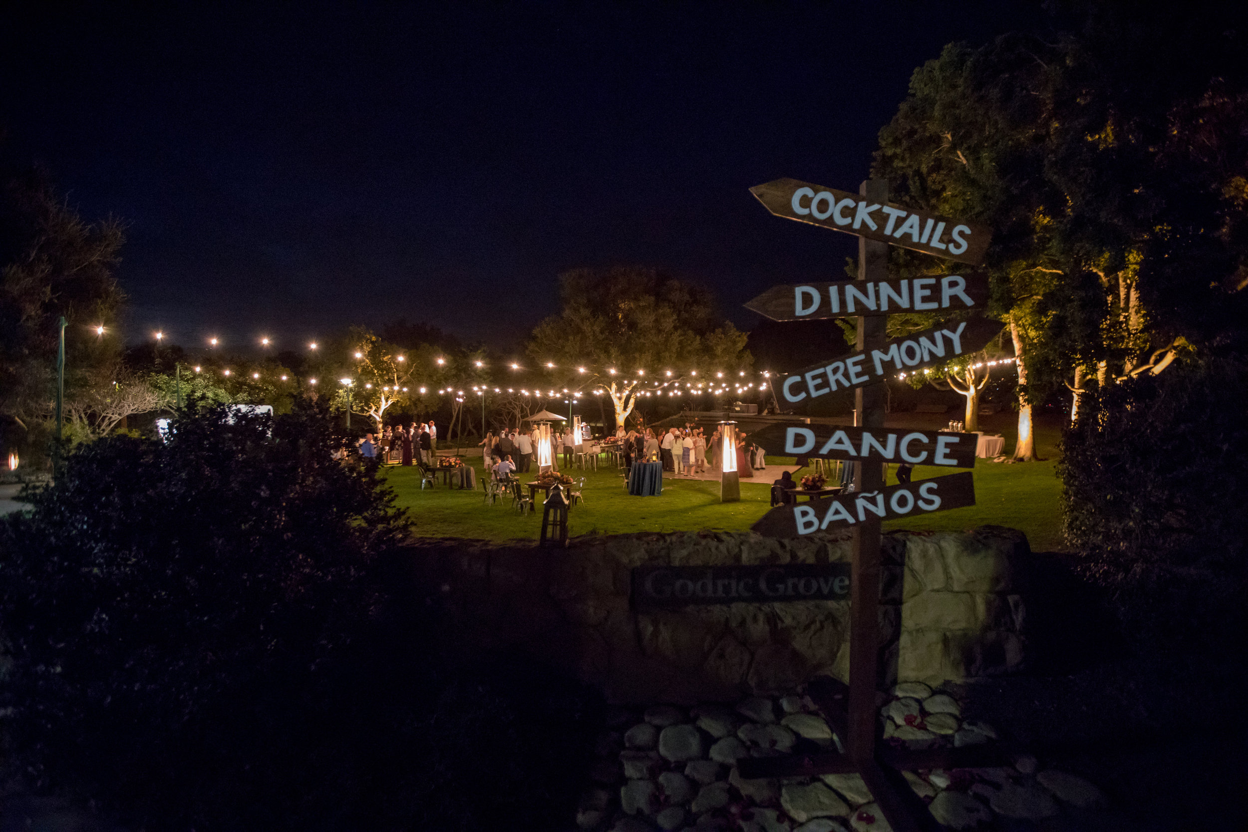 www.santabarbarawedding.com | Elings Park | Waller Weddings | Reception Sign