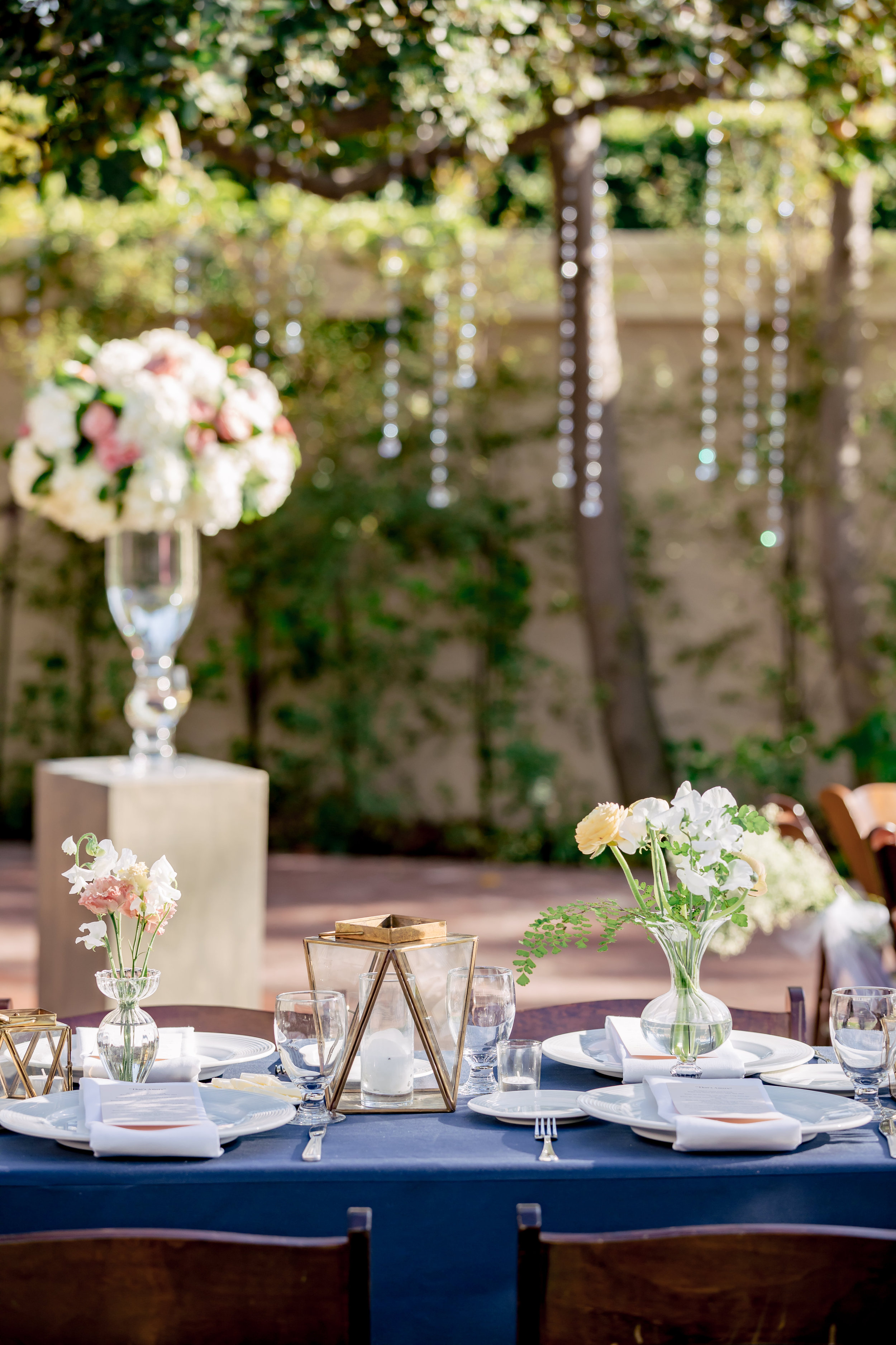 www.SantaBarbaraWeddingStyle.com | Rewind Photography | The Santa Barbara Club | Cocorose Design | Alegria by Design | Pink and Navy Wedding