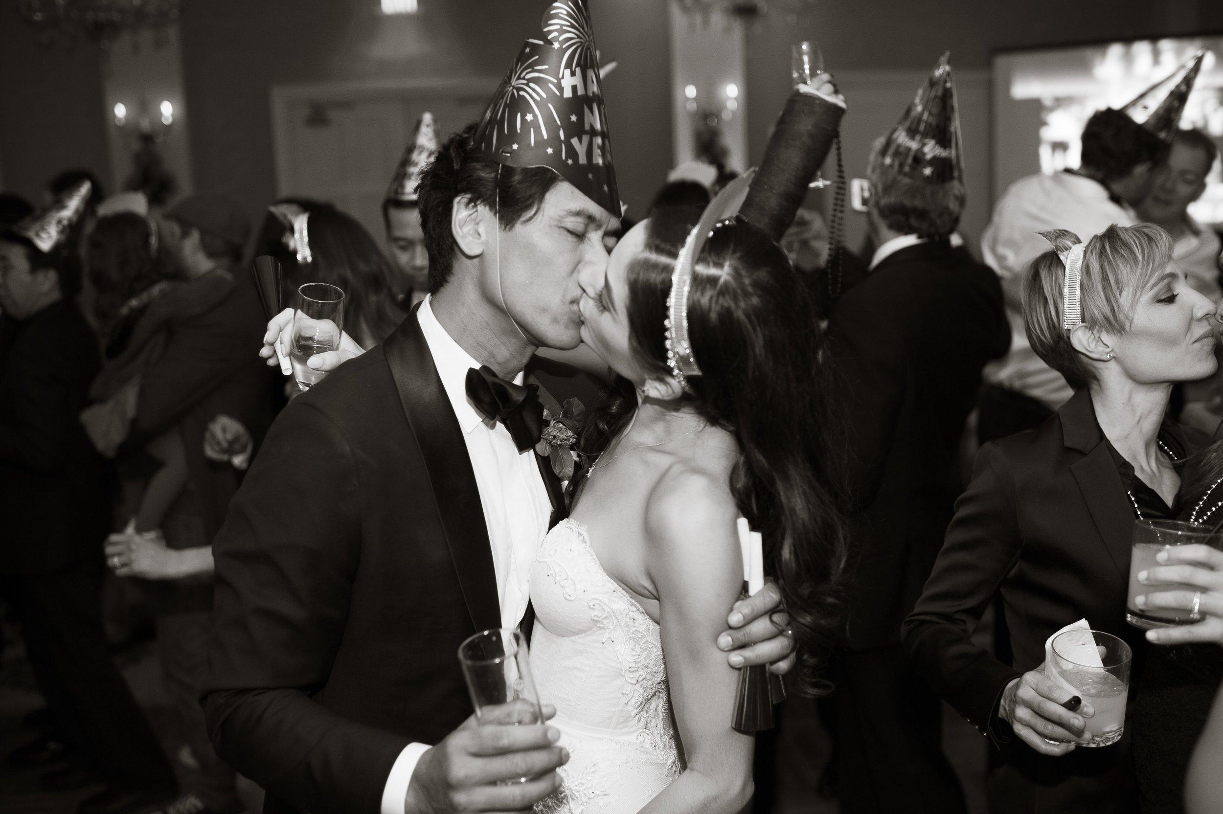 www.santabarbarawedding.com   Nate and Jenny Weddings   Felici Events   Belmond El Encanto   New Year's Kiss