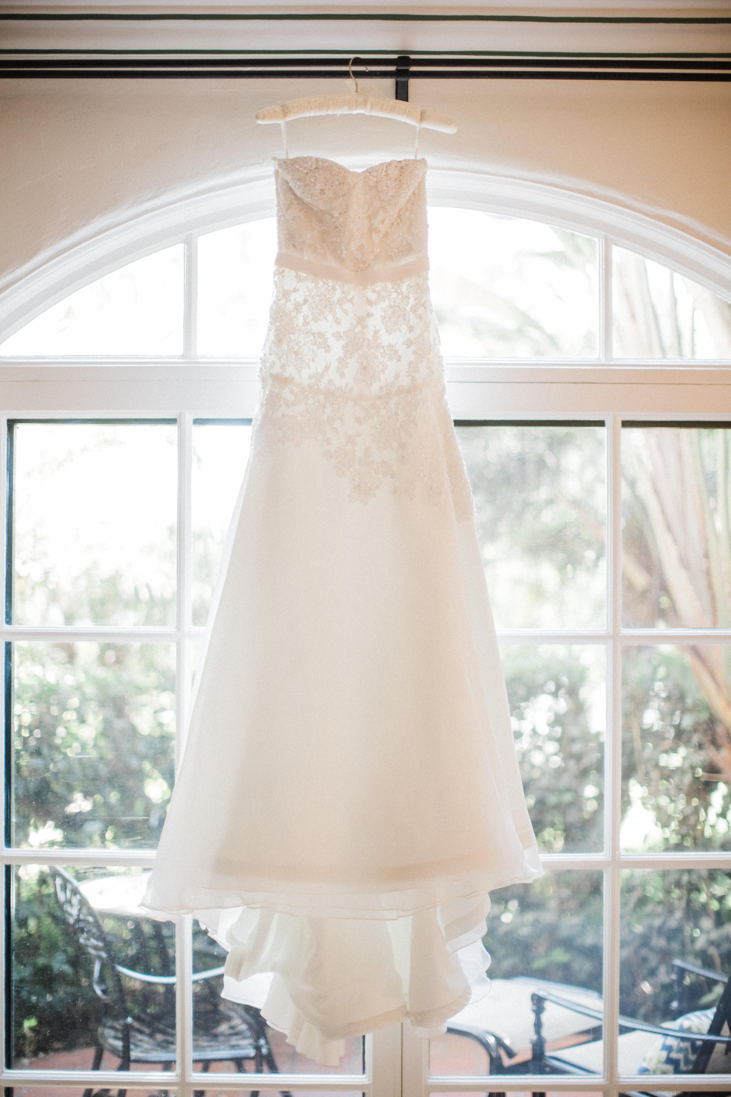 www.santabarbarawedding.com | KB Events | Michael and Anna Costa | Four Seasons The Biltmore | Wedding Gown