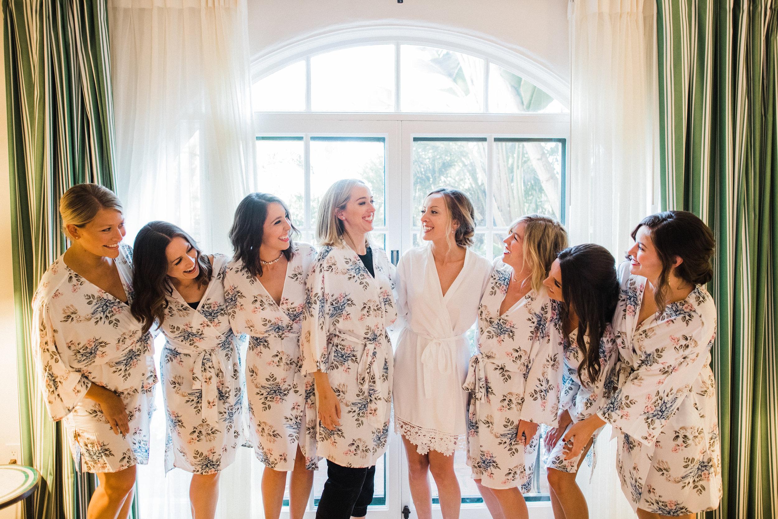 www.santabarbarawedding.com | KB Events | Michael and Anna Costa | Four Seasons The Biltmore | Bridesmaids getting ready