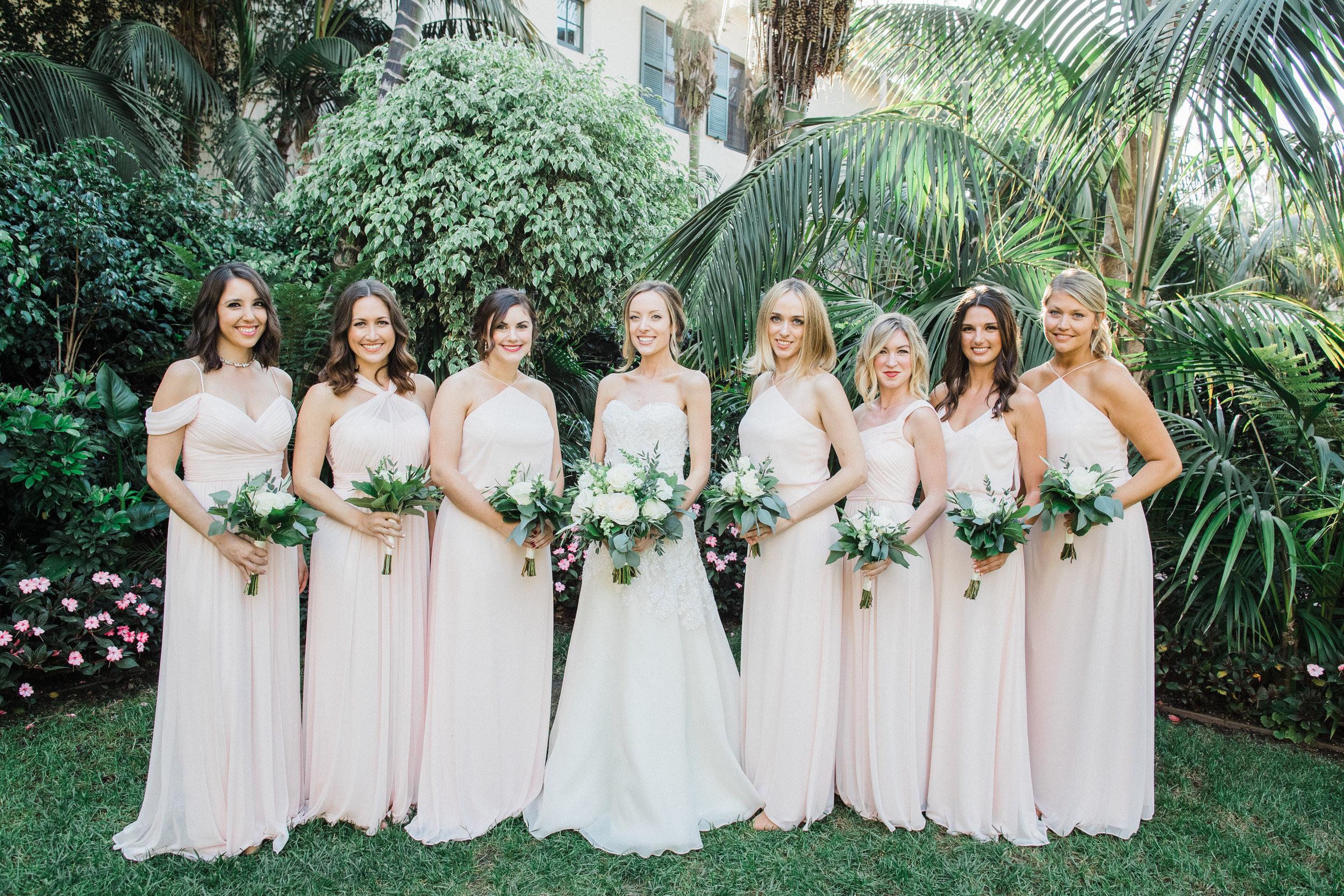 www.santabarbarawedding.com | KB Events | Michael and Anna Costa | Four Seasons The Biltmore | Bridesmaids