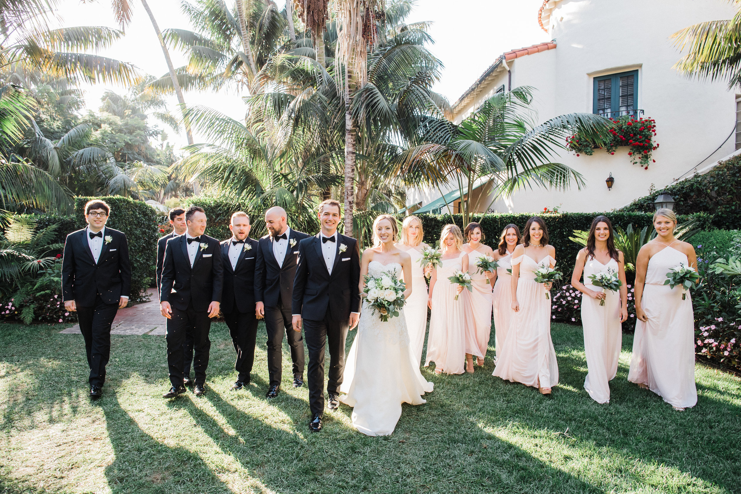 www.santabarbarawedding.com | KB Events | Michael and Anna Costa | Four Seasons The Biltmore | Bridal Party