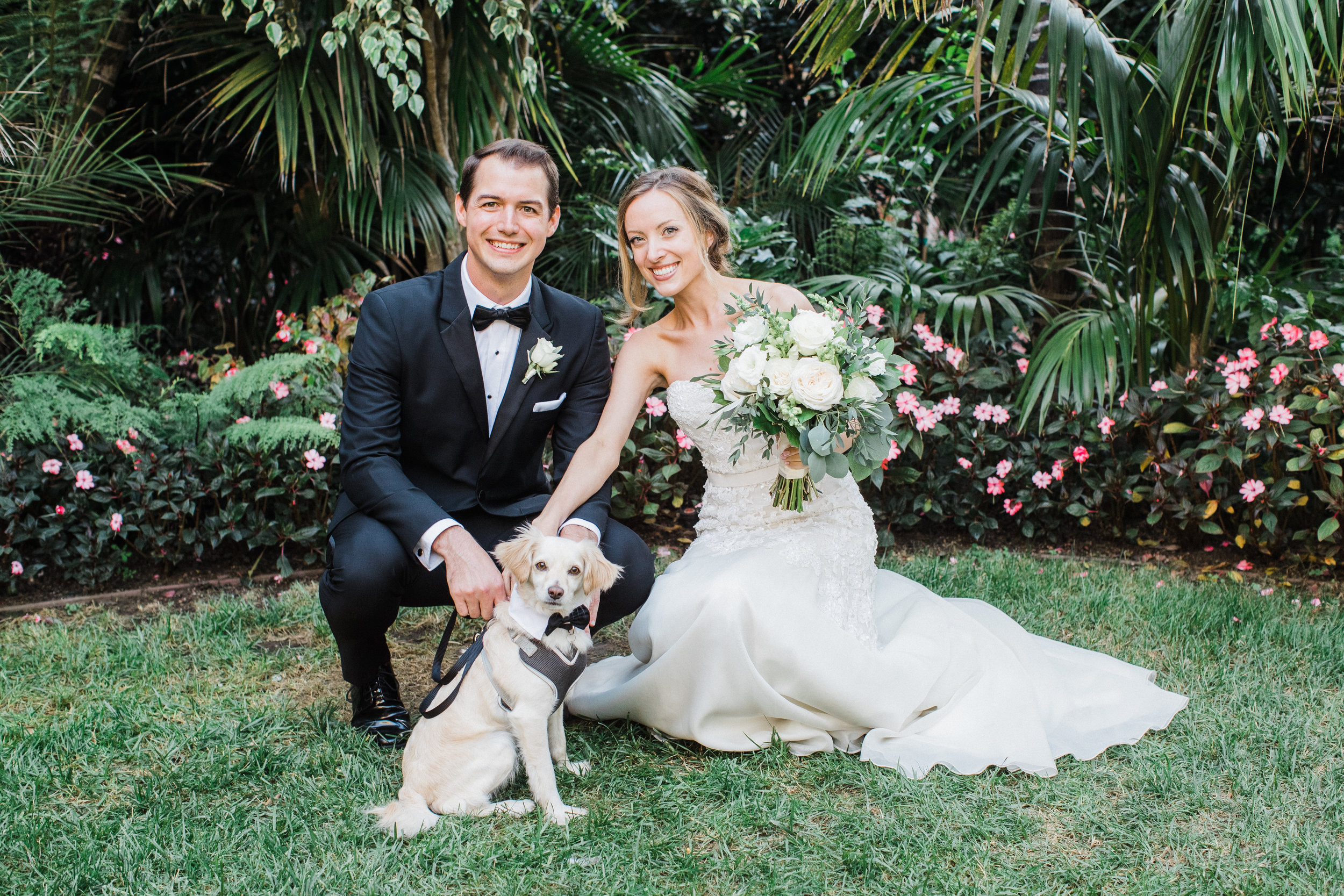 www.santabarbarawedding.com | KB Events | Michael and Anna Costa | Four Seasons The Biltmore | Bride and Groom and Dog