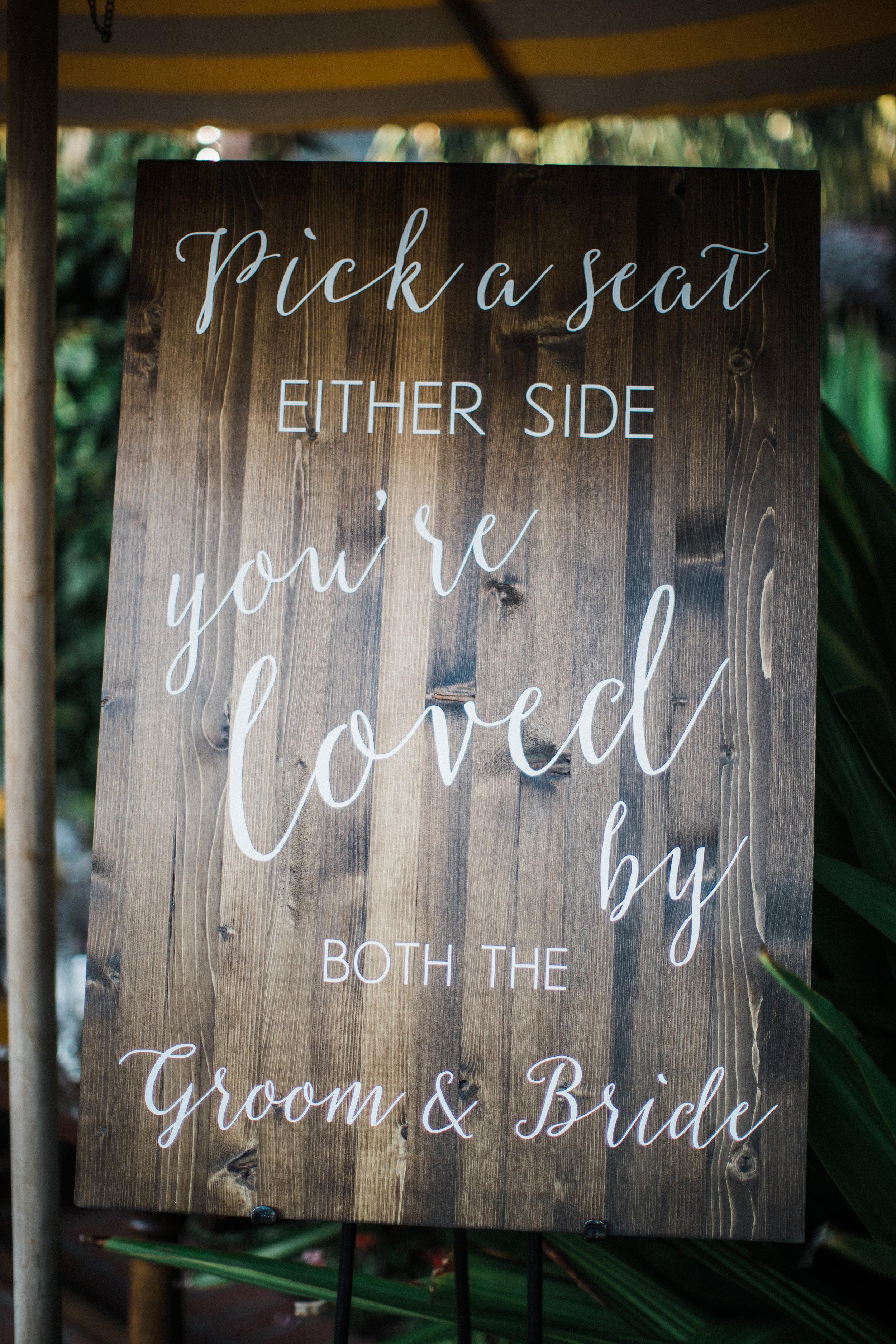 www.santabarbarawedding.com | KB Events | Michael and Anna Costa | Four Seasons The Biltmore | Wedding Sign