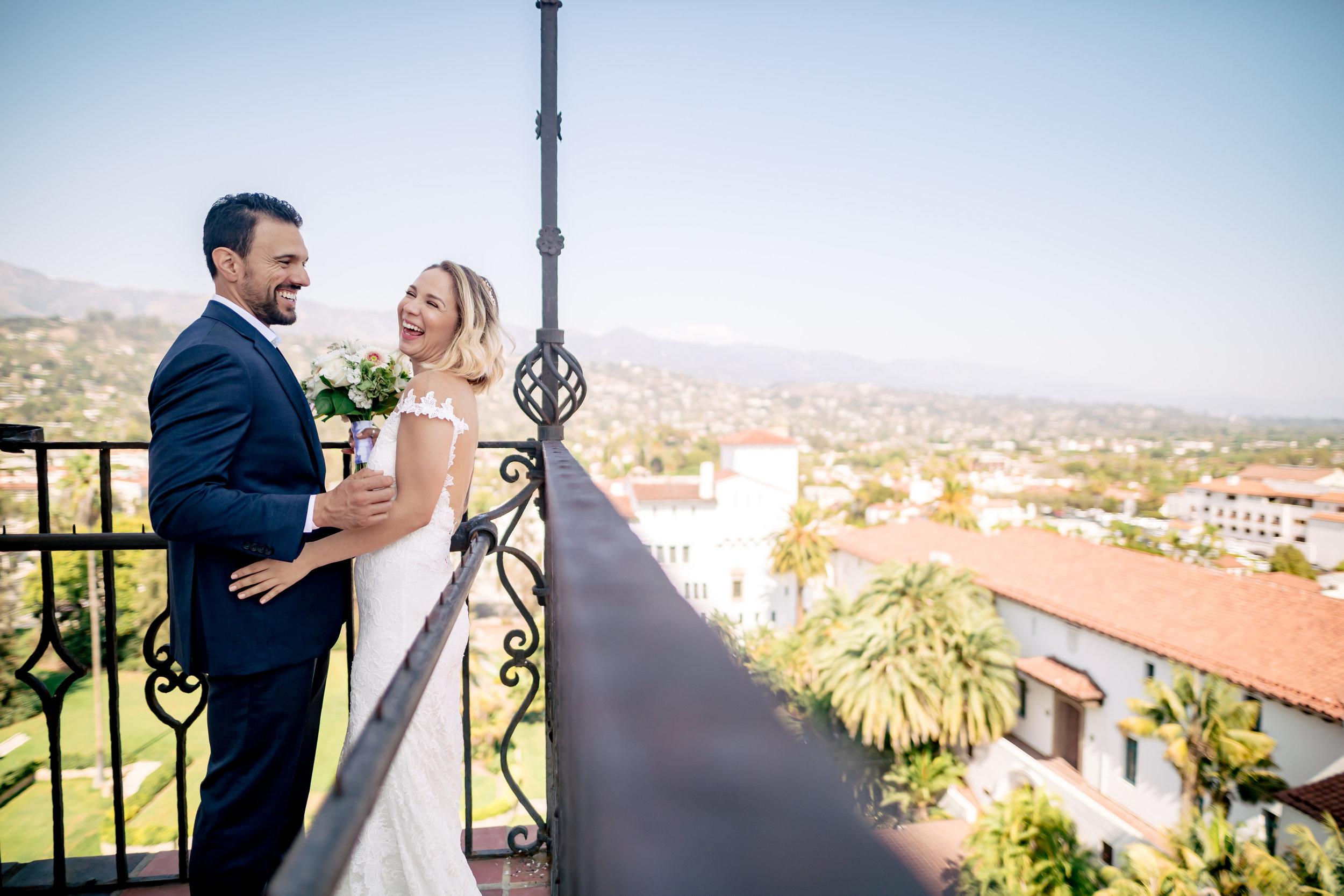 www.santabarbarawedding.com   Rewind Photography   Santa Barbara Courthouse   Elopement   Bride and Groom