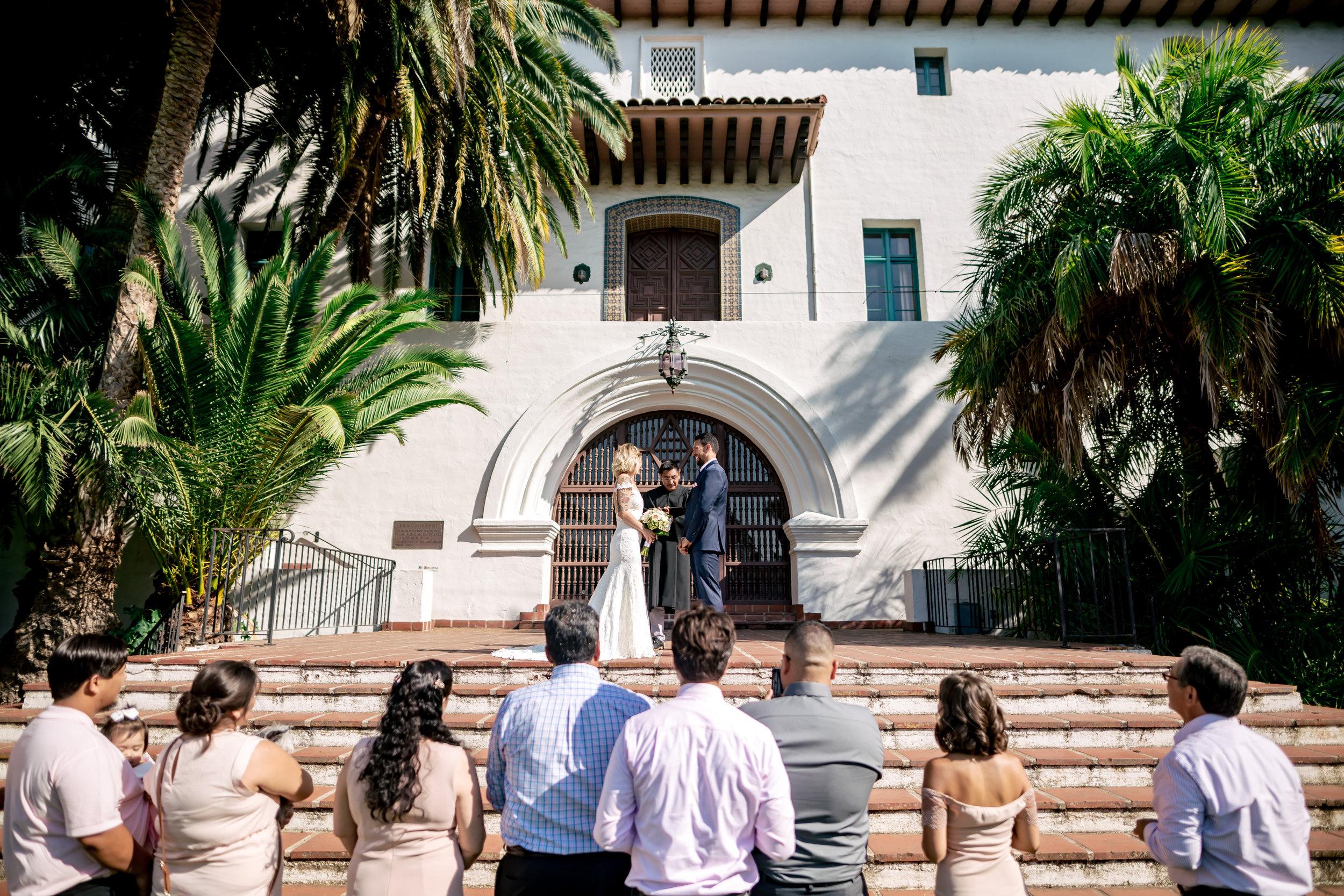 www.santabarbarawedding.com   Rewind Photography   Santa Barbara Courthouse   Elopement   Ceremony