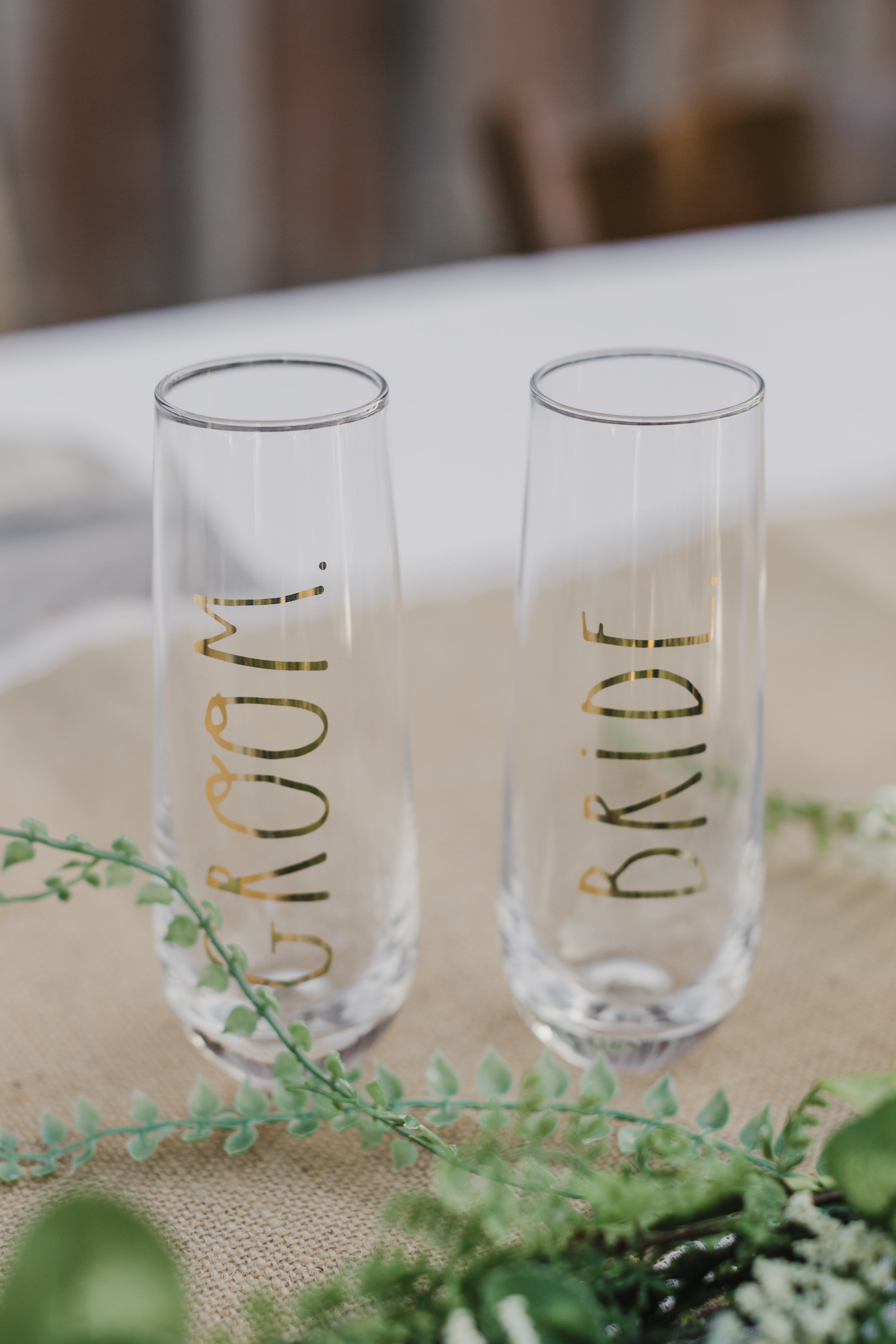 www.santabarbarawedding.com | Grace Maralyn Estate | Diana Lake Photo | Bride and Groom's toasting flutes