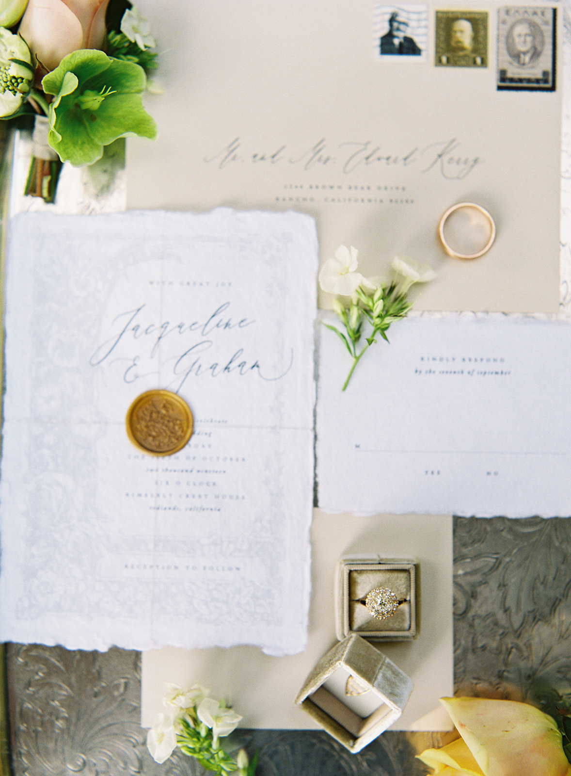 www.santabarbarawedding.com | Besame Floral | Carrie King Photography | Styled Shoot | Invitations