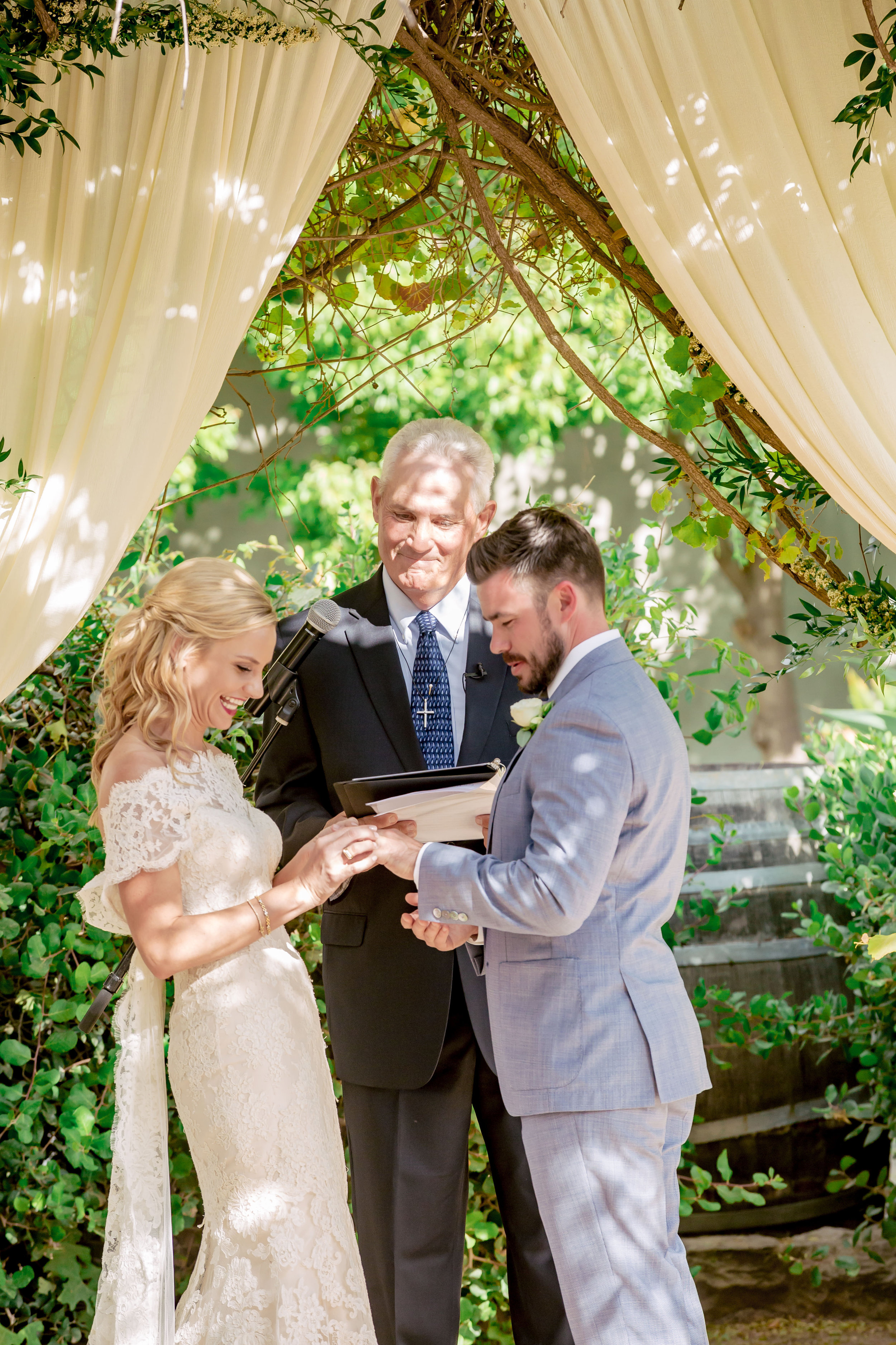 www.santabarbarawedding.com | Rewind Photography | Events by M and M | Santa Barbara Historical Museum | Ceremony | Vows