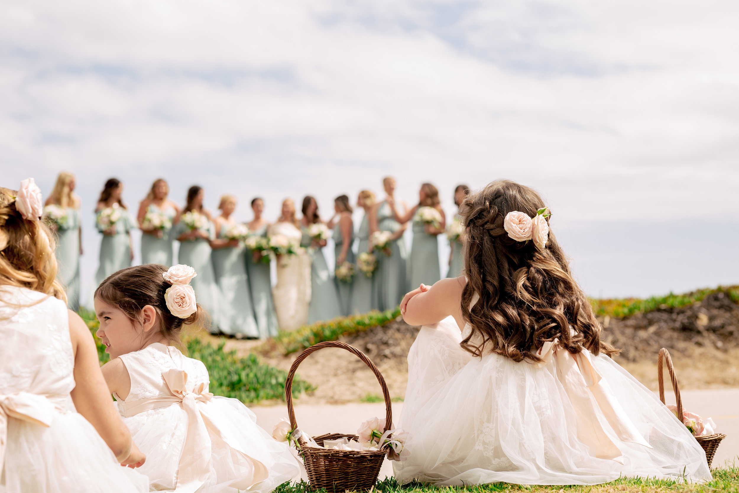 www.santabarbarawedding.com | Rewind Photography | Events by M and M | Santa Barbara Historical Museum | Bridesmaids and Flower Girls