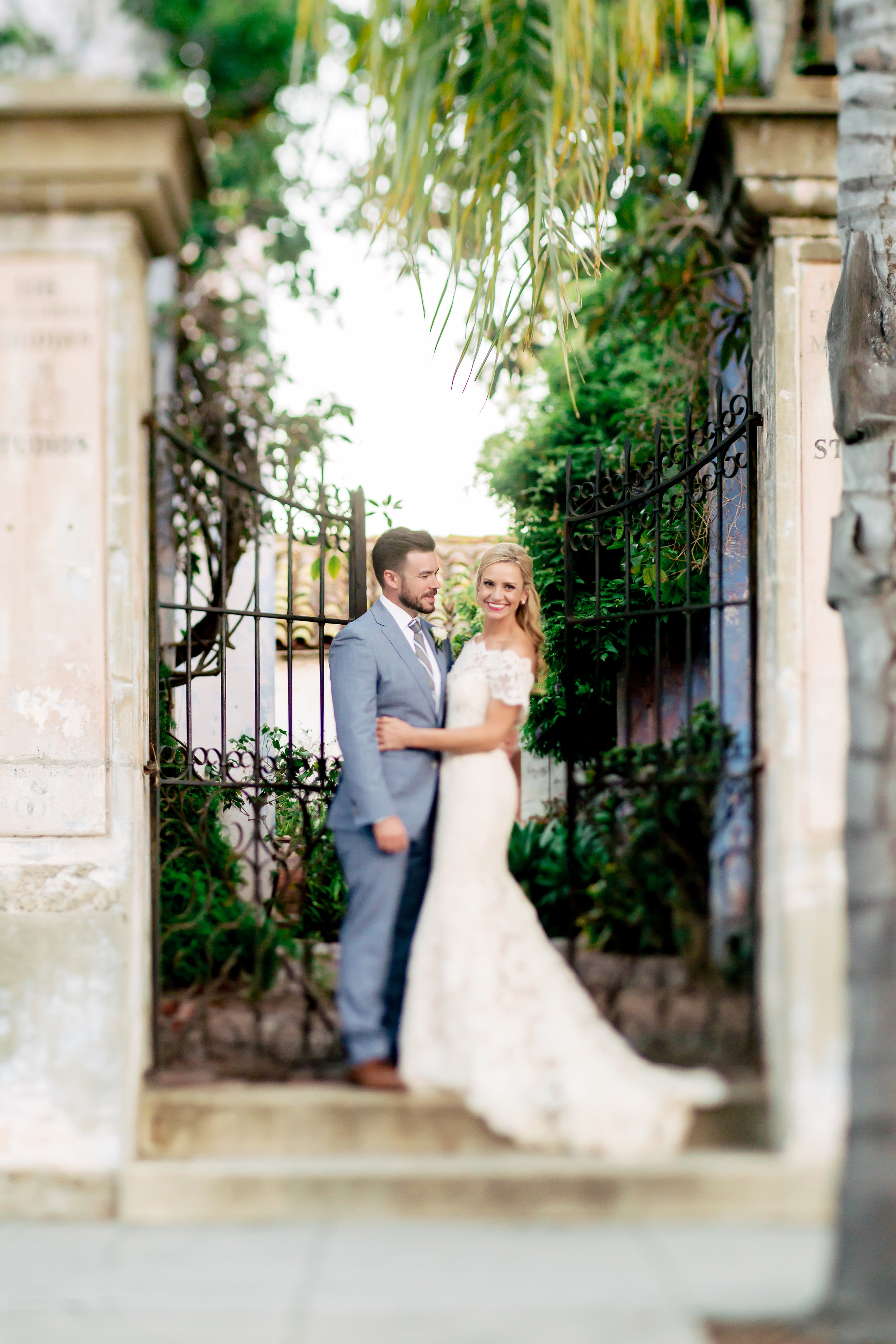www.santabarbarawedding.com | Rewind Photography | Events by M and M | Santa Barbara Historical Museum | Bride and Groom