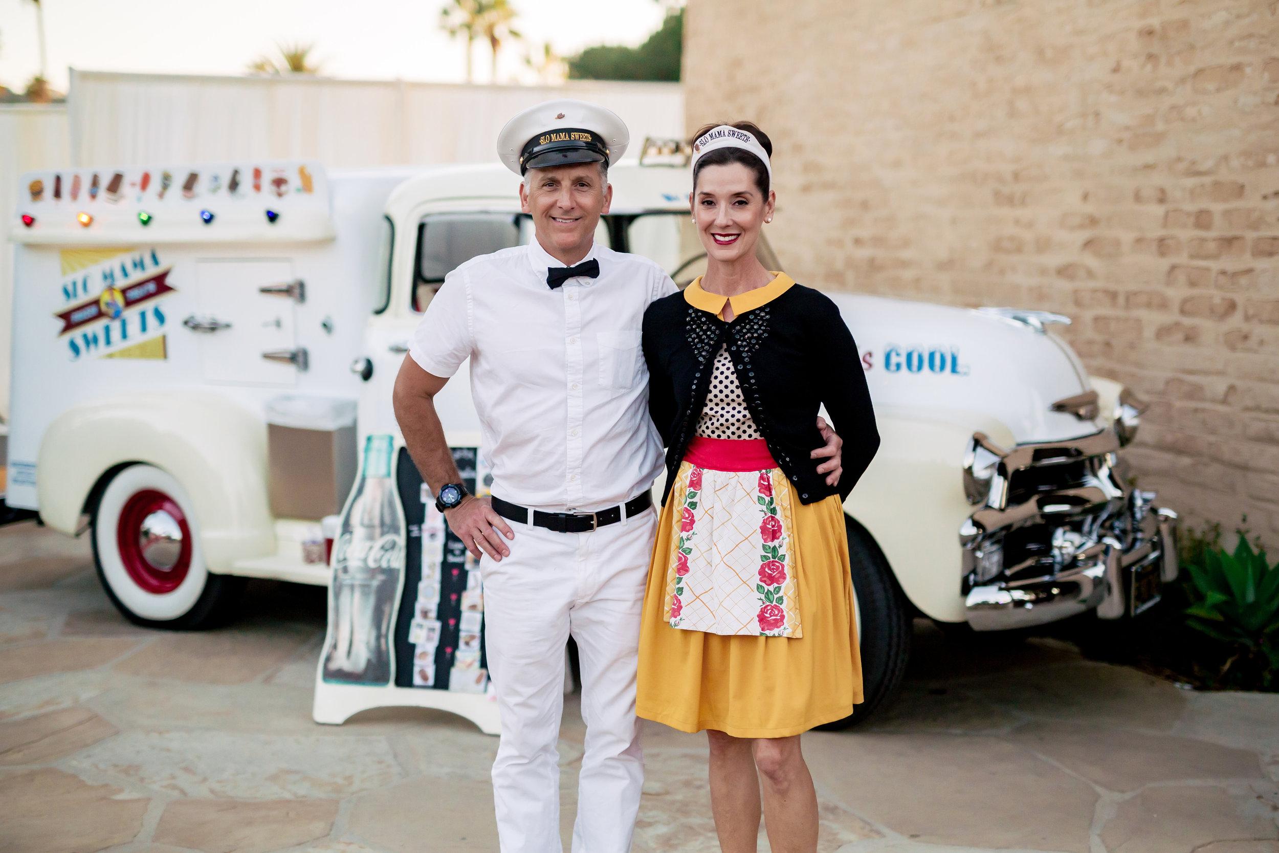 www.santabarbarawedding.com | Rewind Photography | Events by M and M | Santa Barbara Historical Museum | Ice Cream Truck