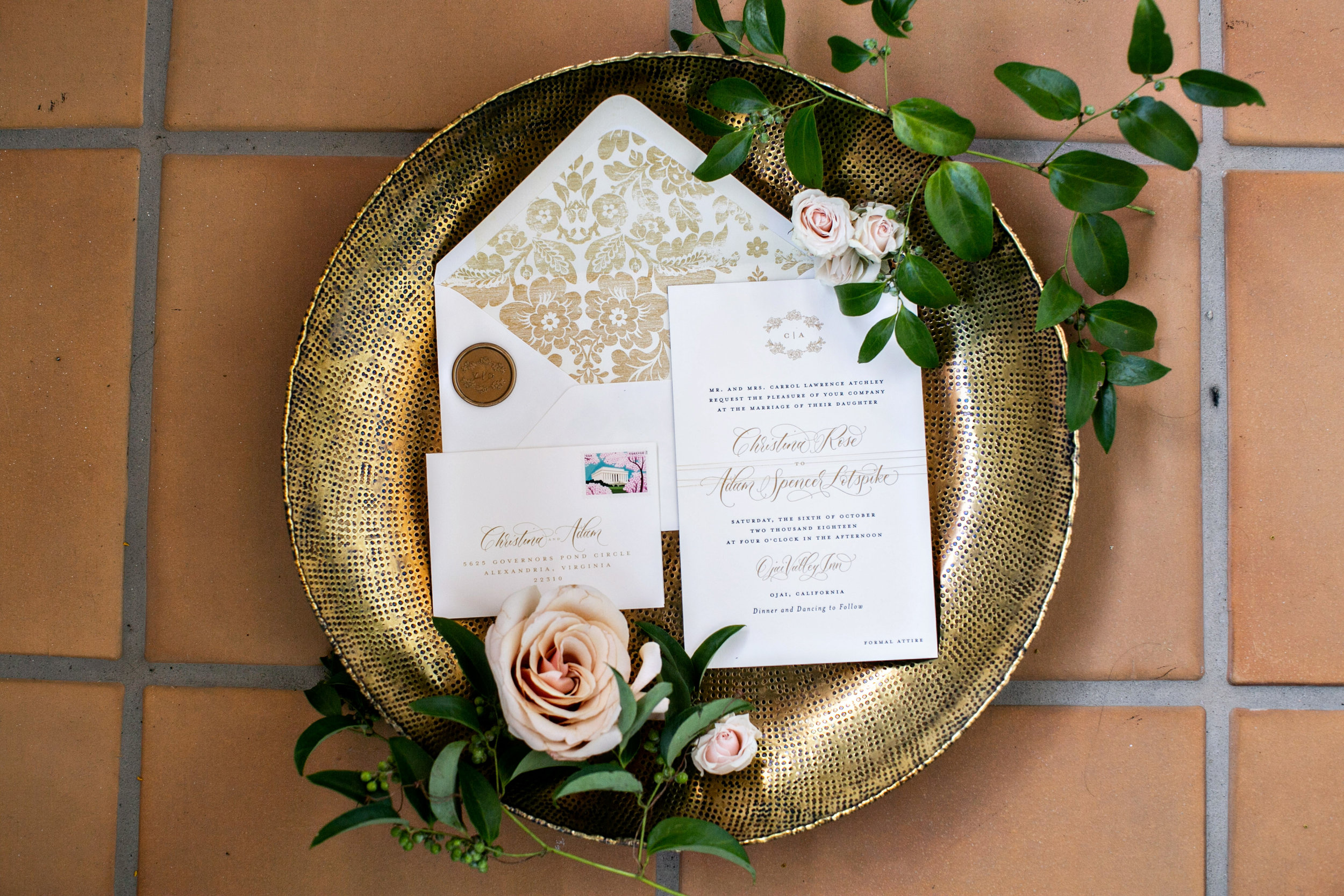 www.santabarbarawedding.com | Laurie Bailey | Ojai Valley Inn | Amber Weir Weddings | Invitations