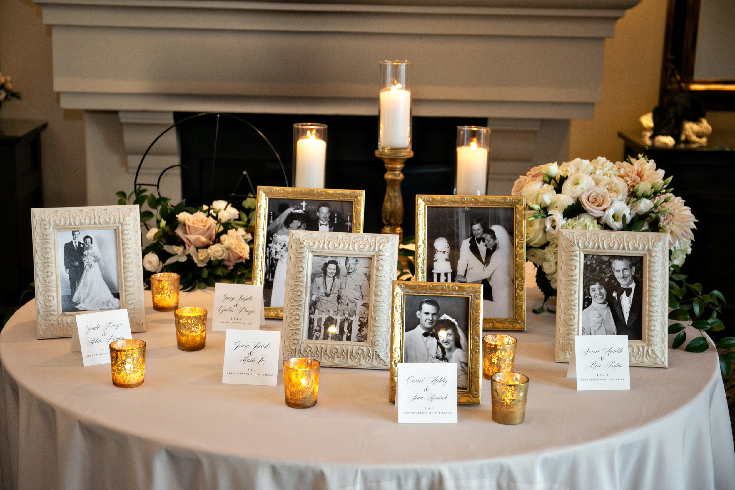 www.santabarbarawedding.com | Laurie Bailey | Ojai Valley Inn | Amber Weir Weddings | Photo Memory Table