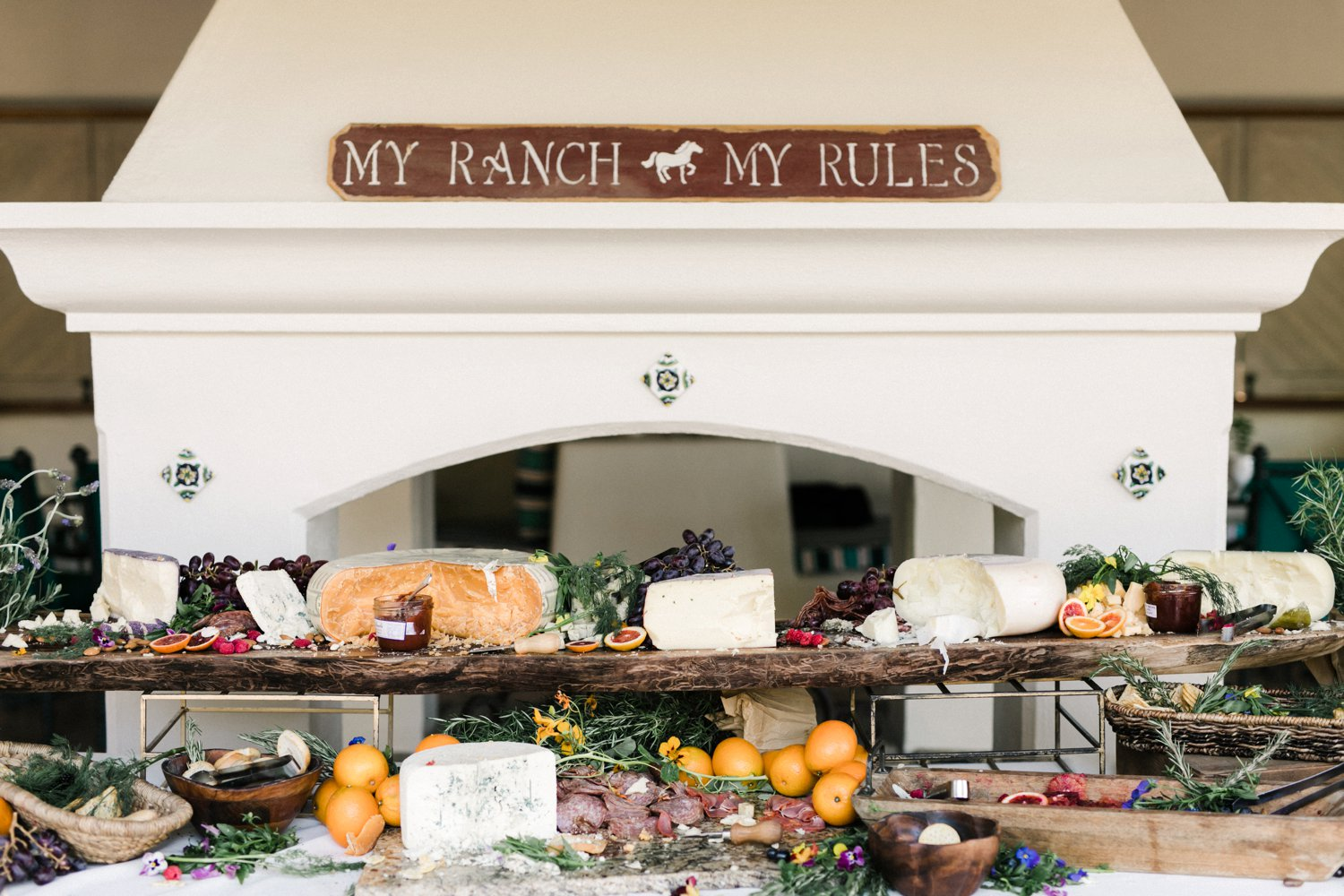 www.santabarbarawedding.com | Anne Delores | Rancho Bella Vista | Wild Heart Events | Buffet Table