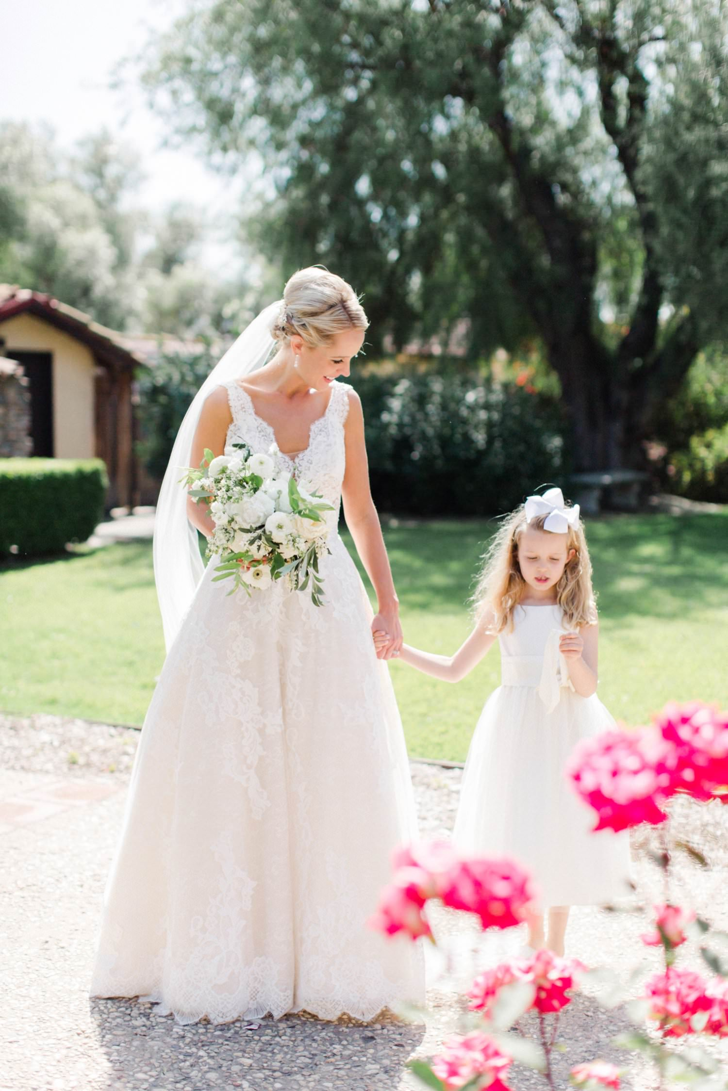 www.santabarbarawedding.com | Anne Delores | Rancho Bella Vista | Wild Heart Events | Bride and Flower Girl