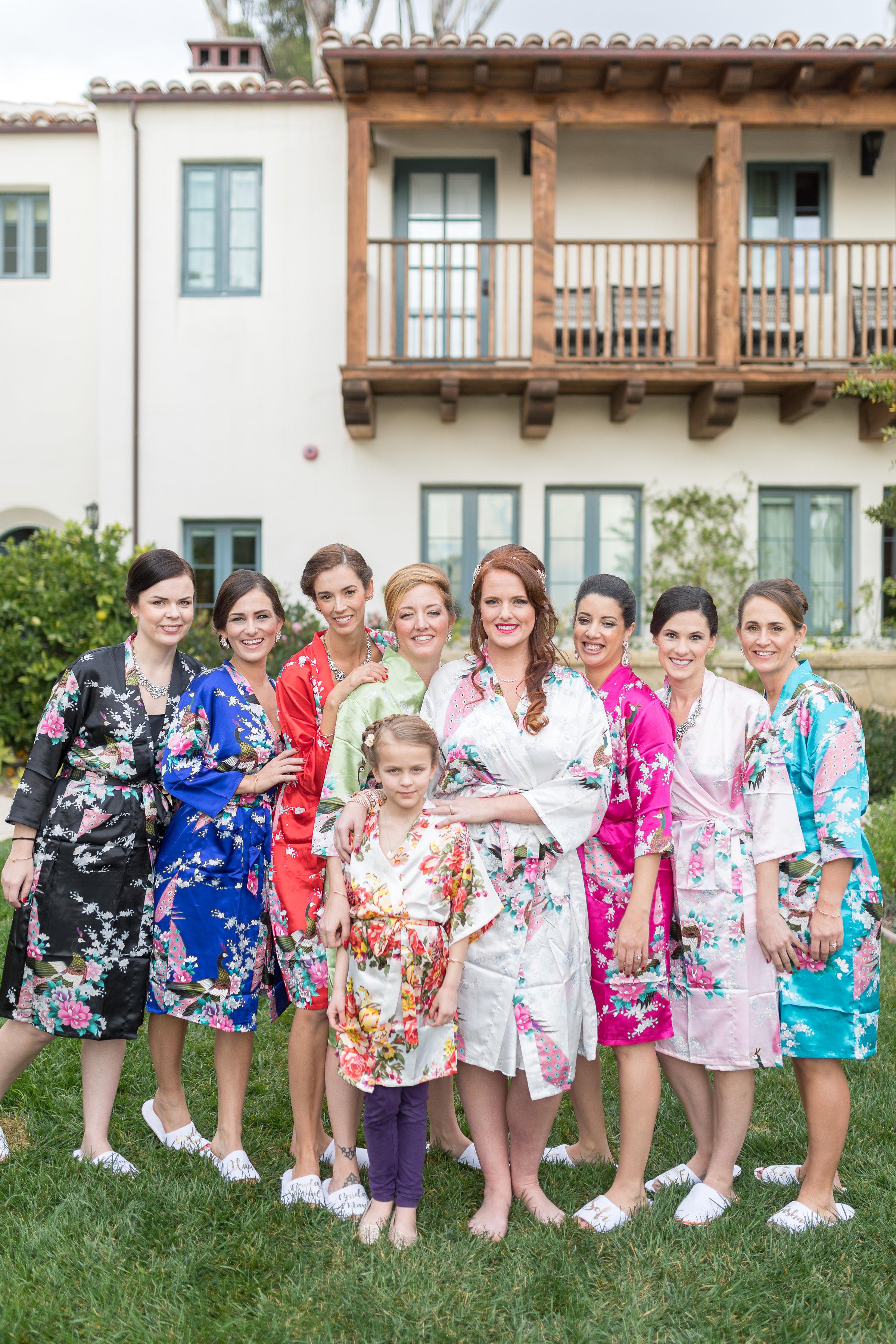www.santabarbarawedding.com | Hotel Californian | Kiel Rucker | Bridesmaids getting ready