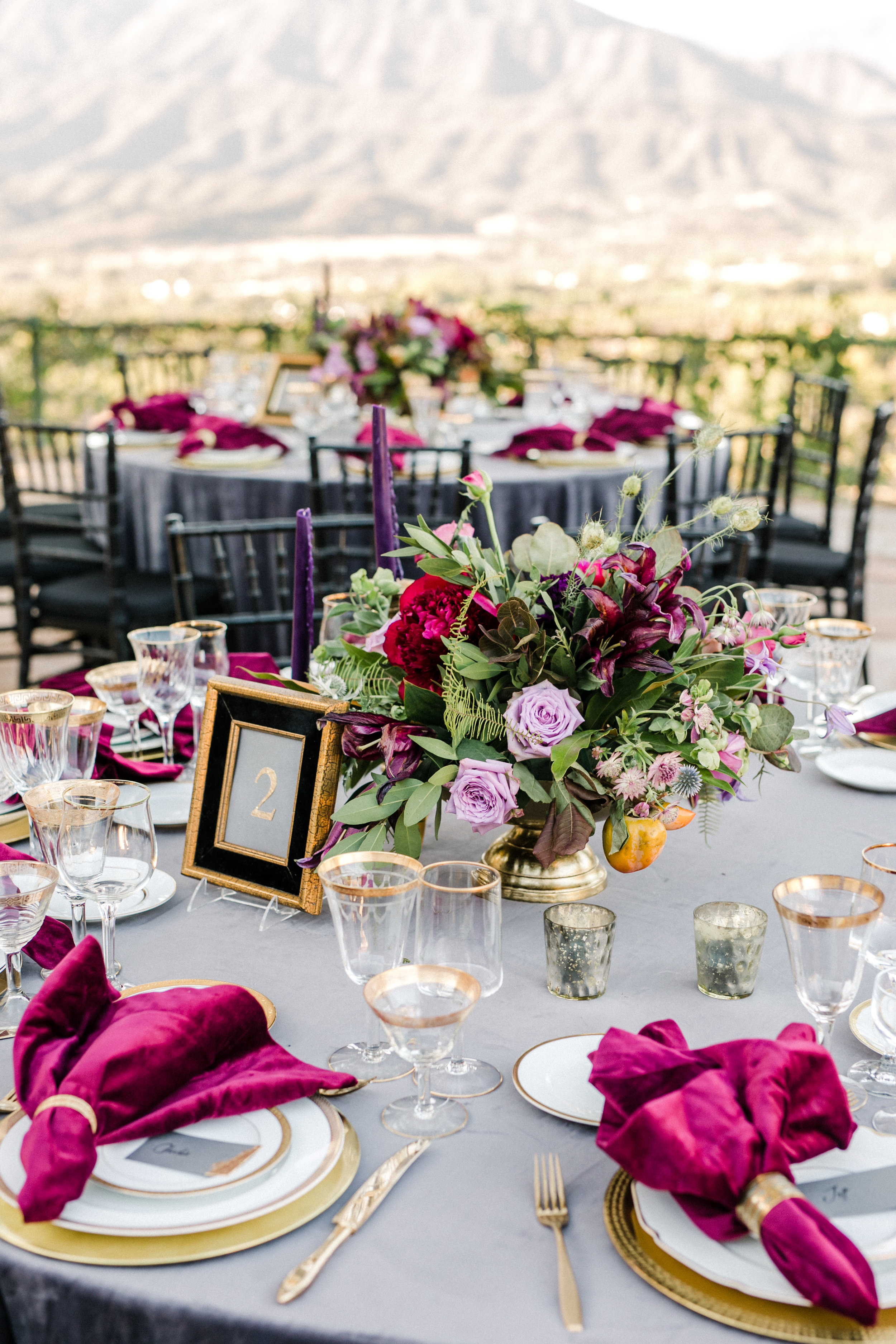 www.santabarbarawedding.com | Anna Delores | Ojai Retreat | Reception Table
