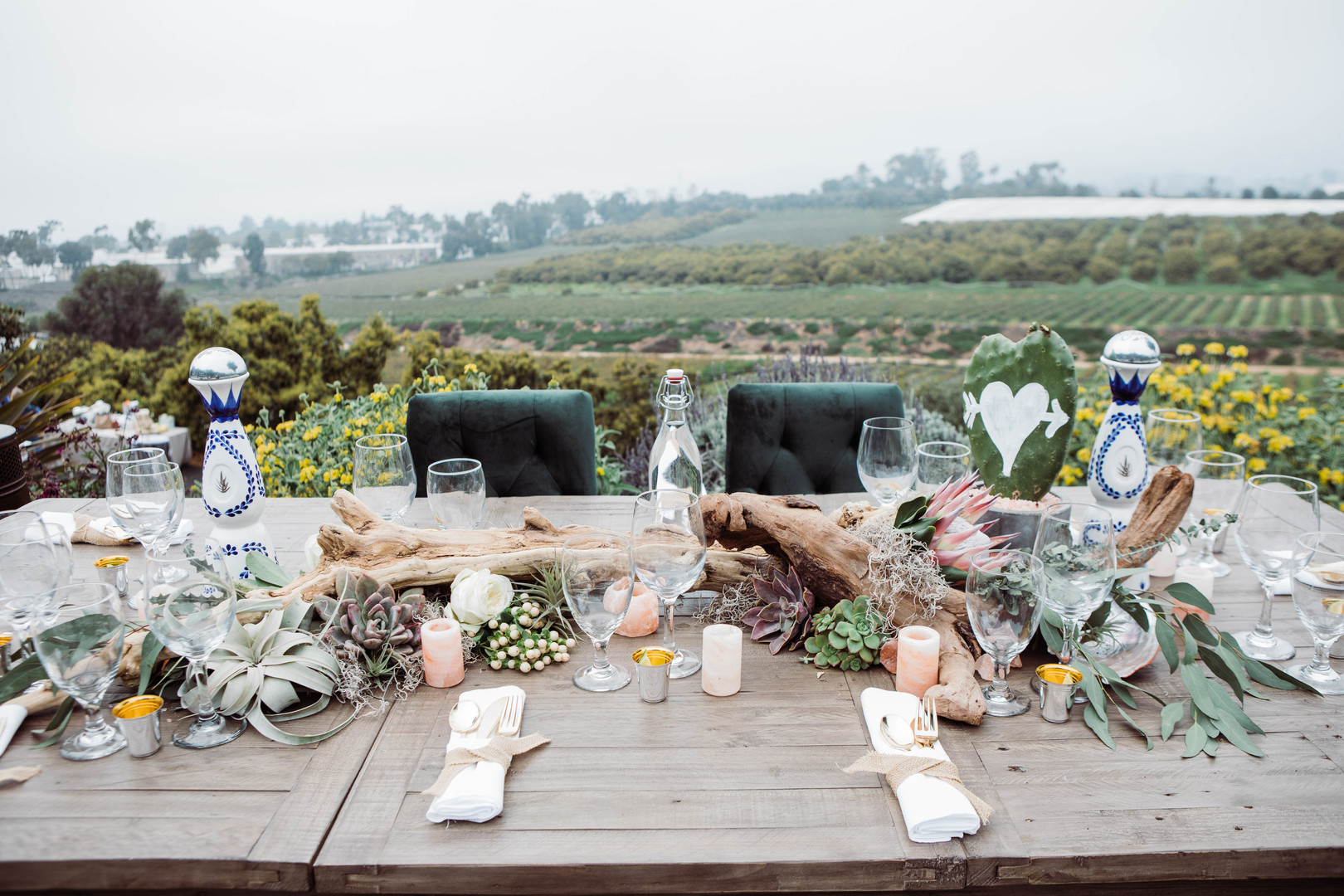www.santabarbarawedding.com | Just Kiss Collective | Craddock Ranch | Alia Glasgow | Reception table