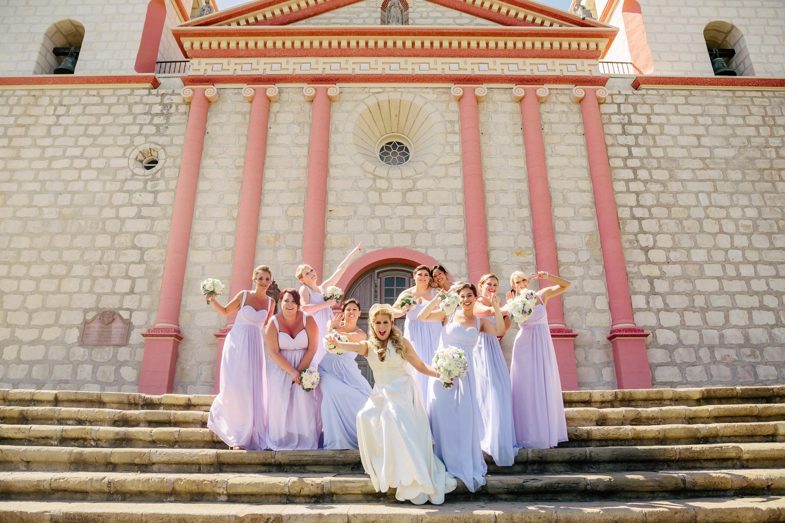 www.santabarbarawedding.com | Rewind Photography | SB Maritime Museum | Santa Barbara Mission | Bridesmaids