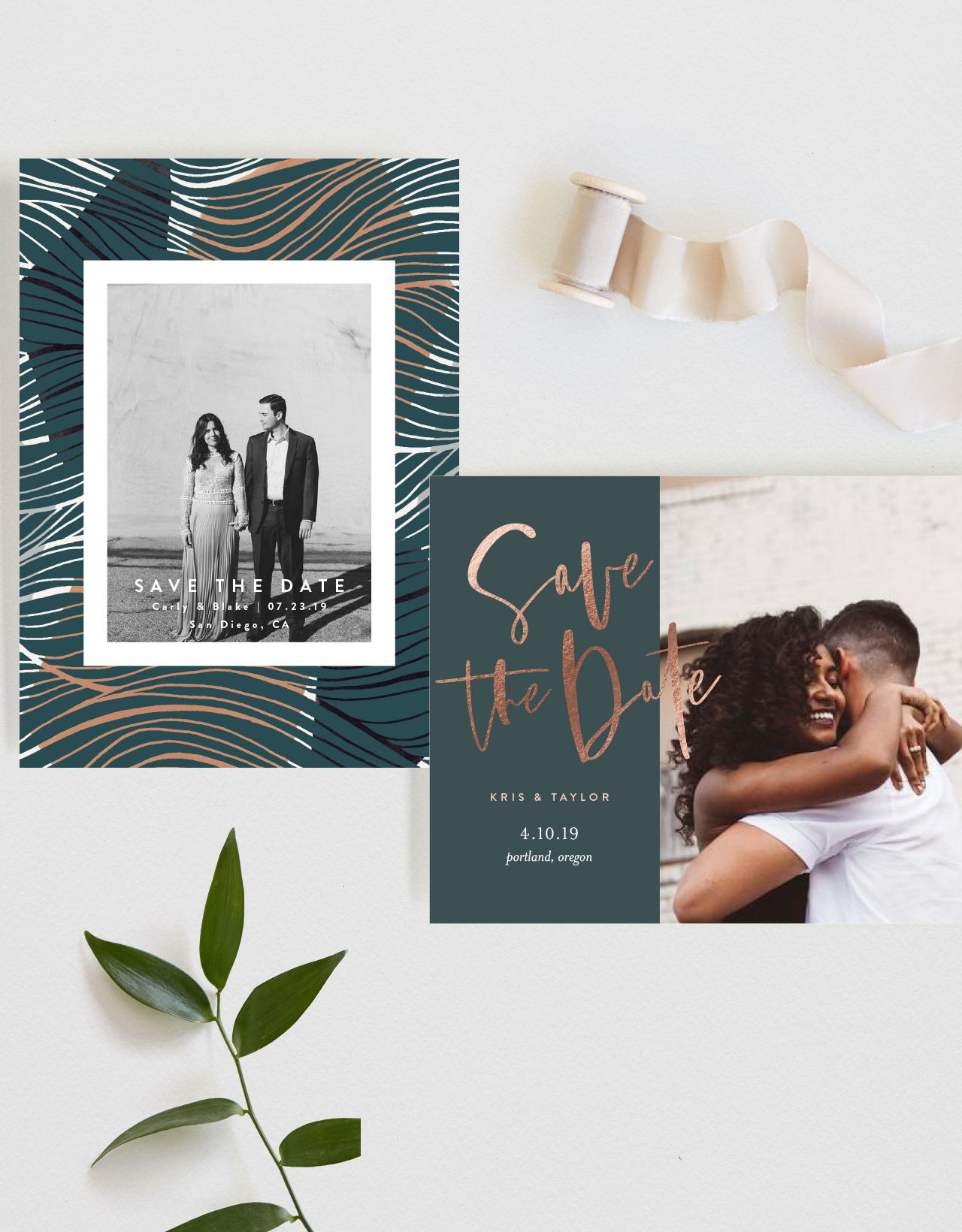 Santa Barbara Wedding Style | new save the date assortment by minted