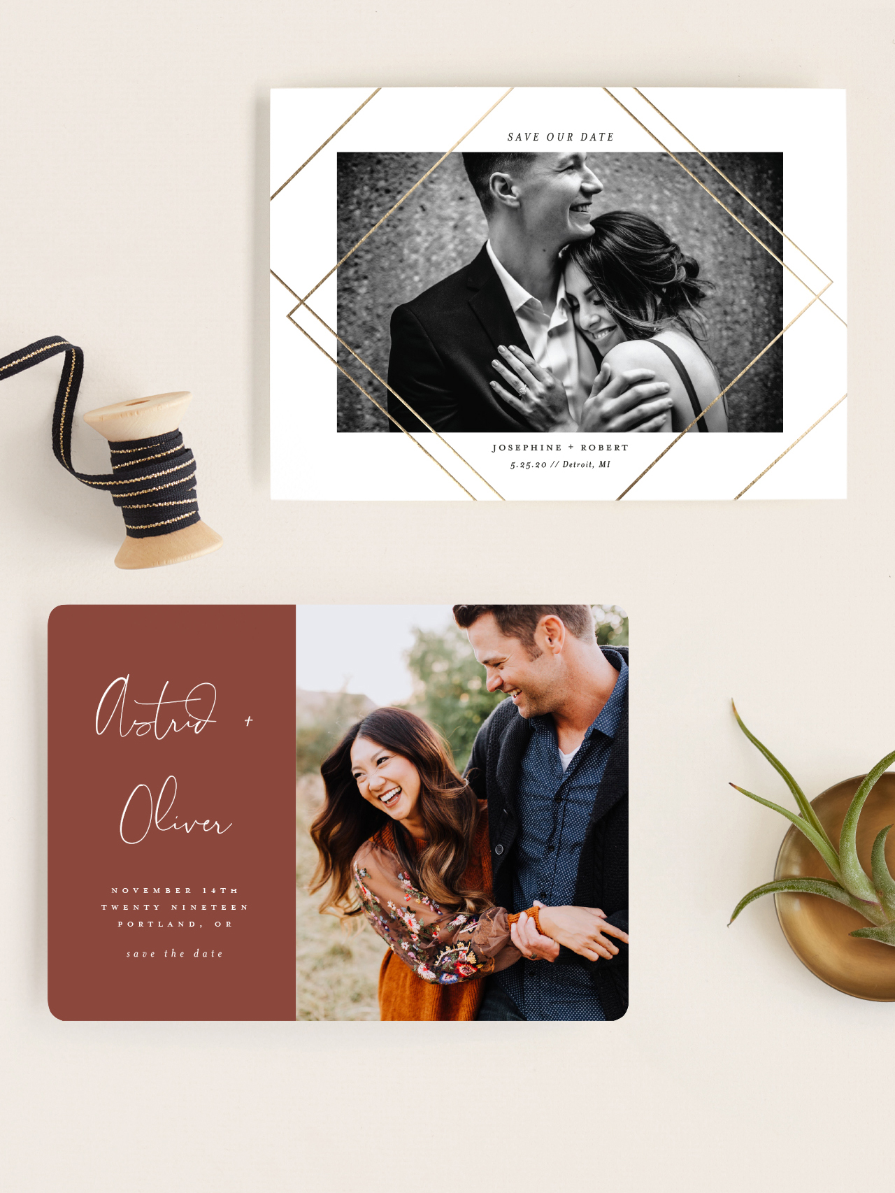 www.santabarbarawedding.com | new save the date assortment by minted