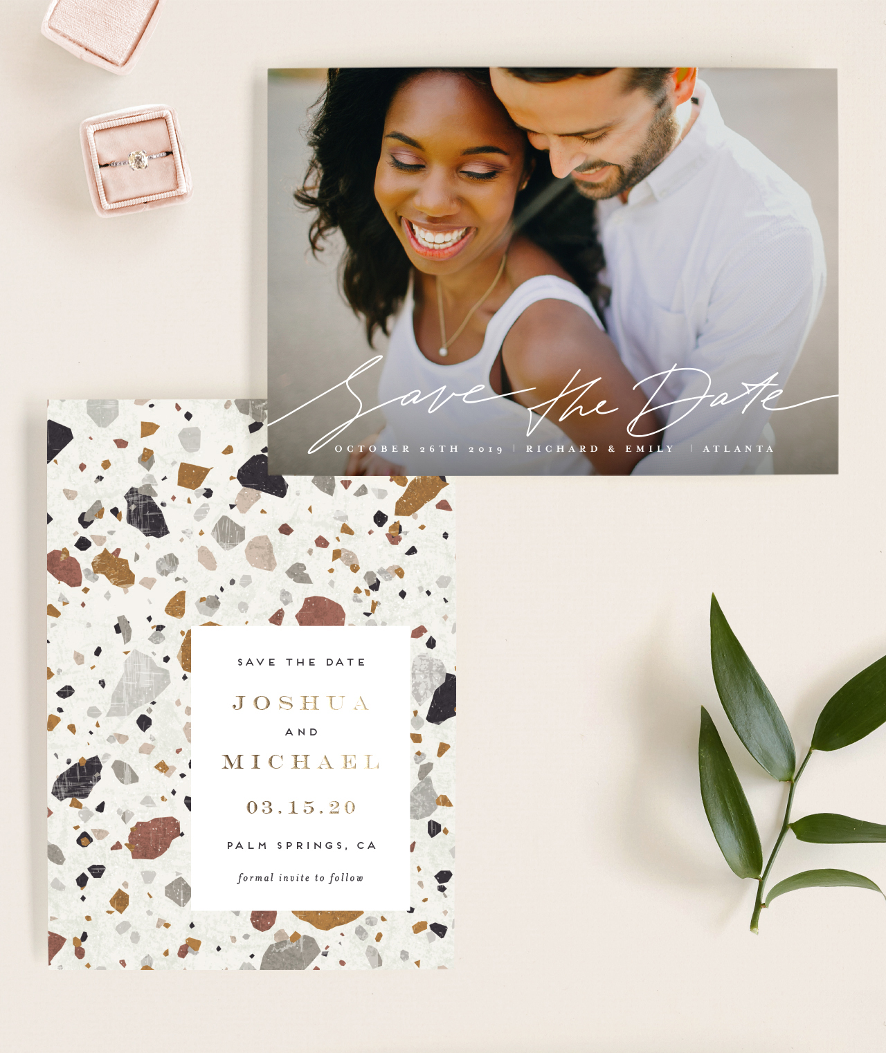 www.santabarbarawedding.com | new save the date assortment by minted.com