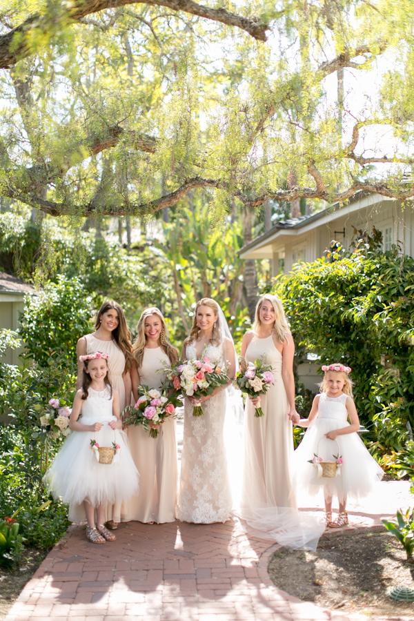 www.santabarbarawedding.com | Belmond El Encanto | Allyson Magda | Bridesmaids and Flower Girls