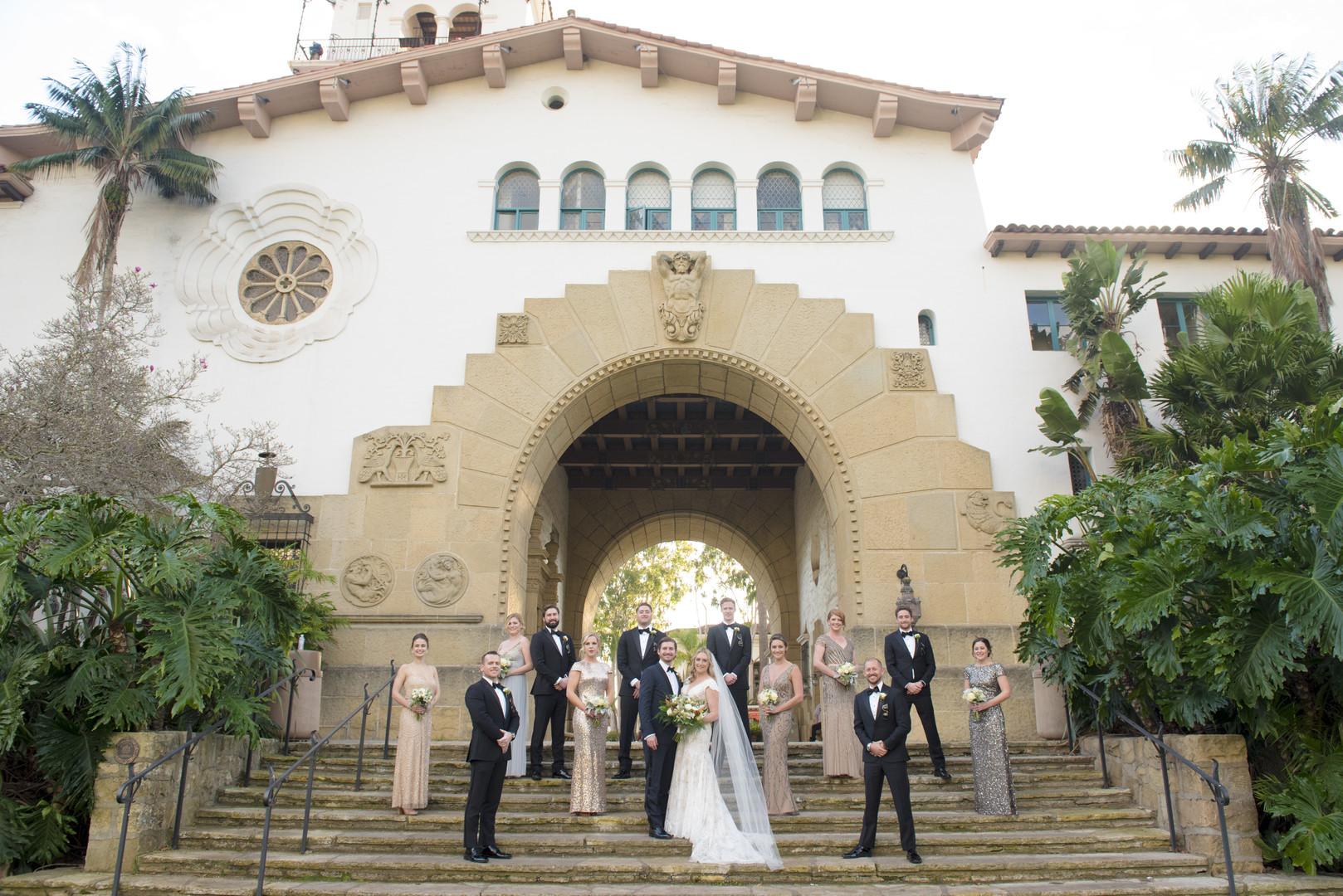 www.santabarbarawedding.com | ByCherry Photo | Hilton Beachfront Resort | Dulce Dia Events | Bridal Party