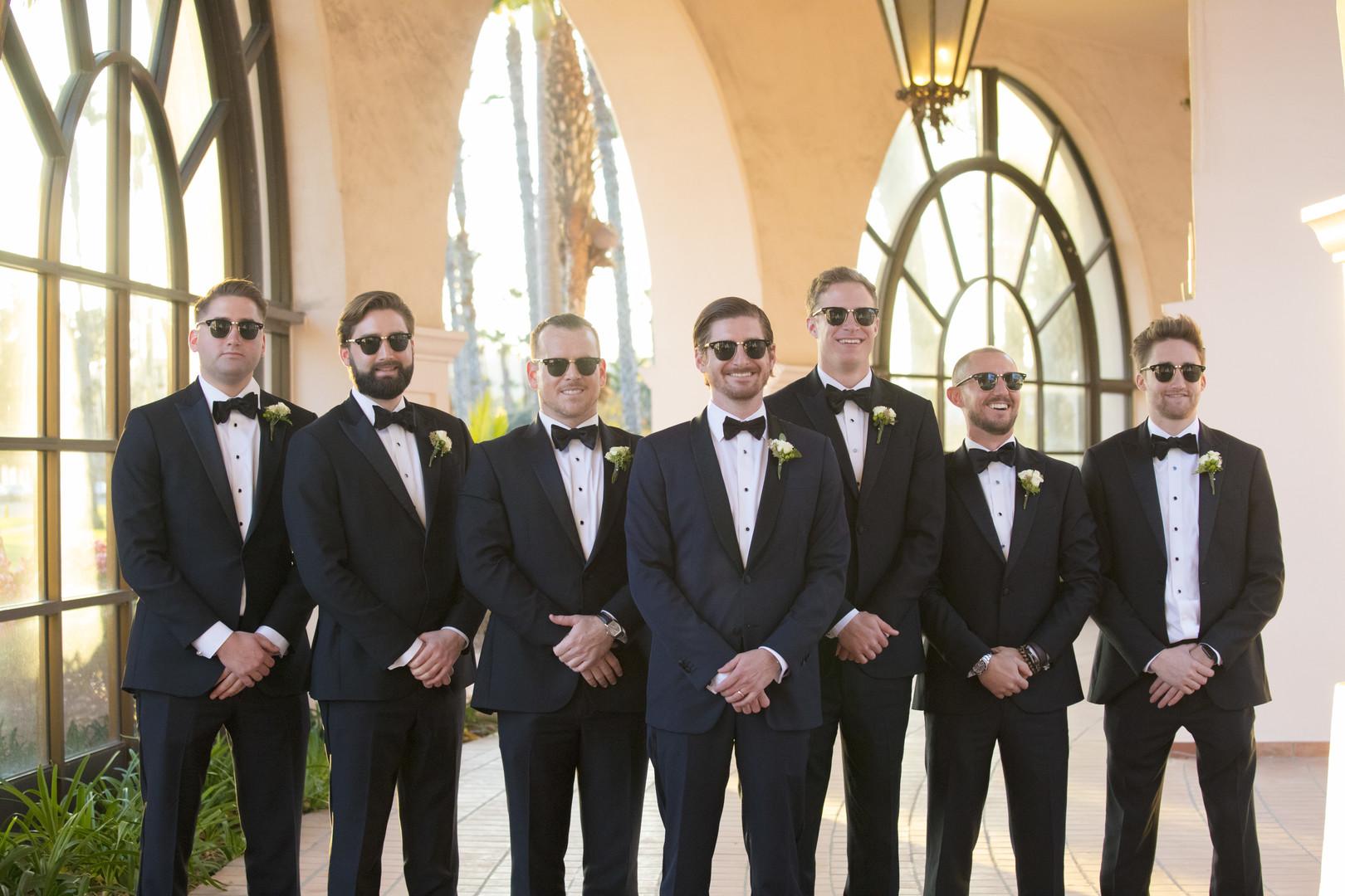 www.santabarbarawedding.com | ByCherry Photo | Hilton Beachfront Resort | Dulce Dia Events | Groomsmen