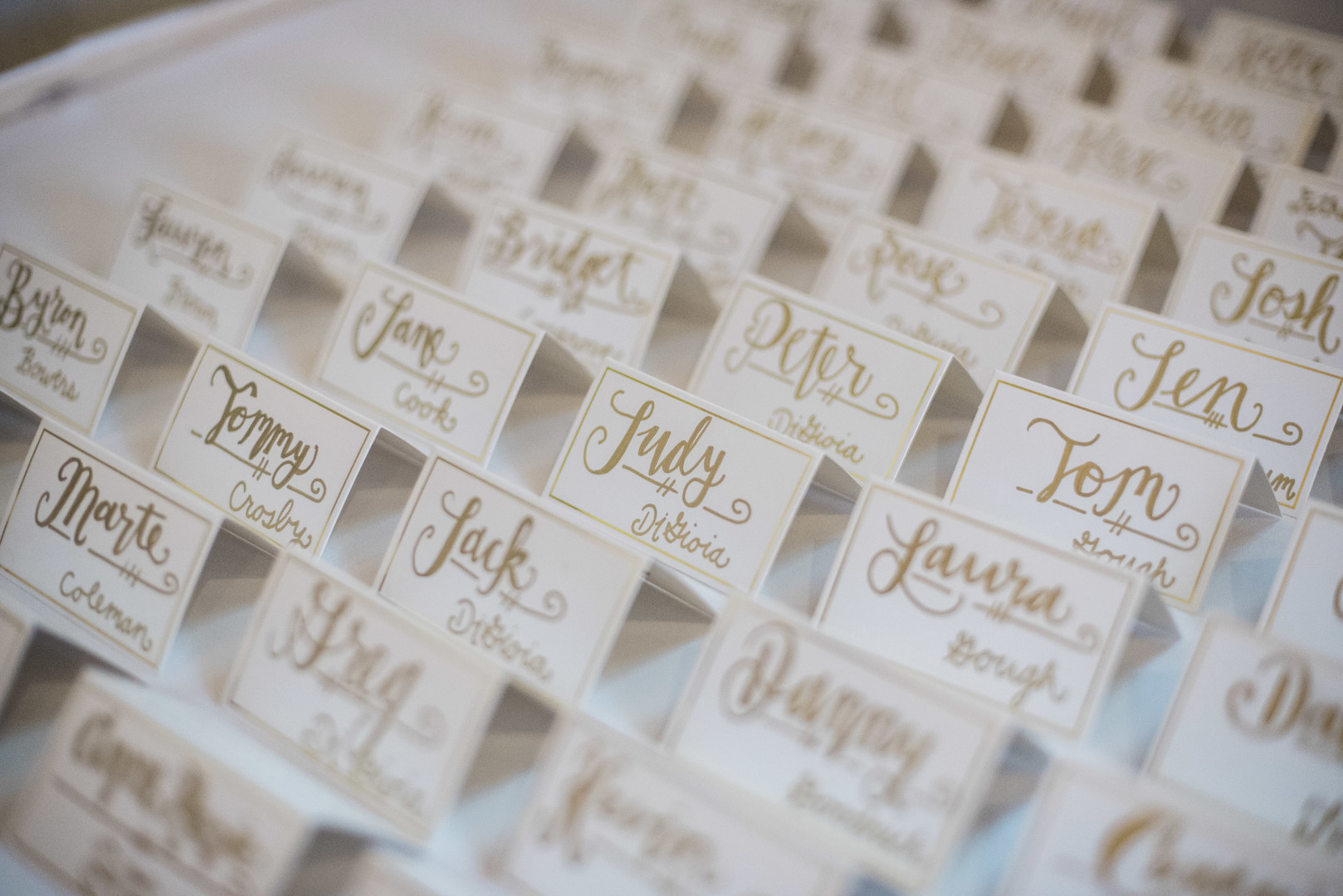 www.santabarbarawedding.com | ByCherry Photo | Hilton Beachfront Resort | Dulce Dia Events | Escort Cards