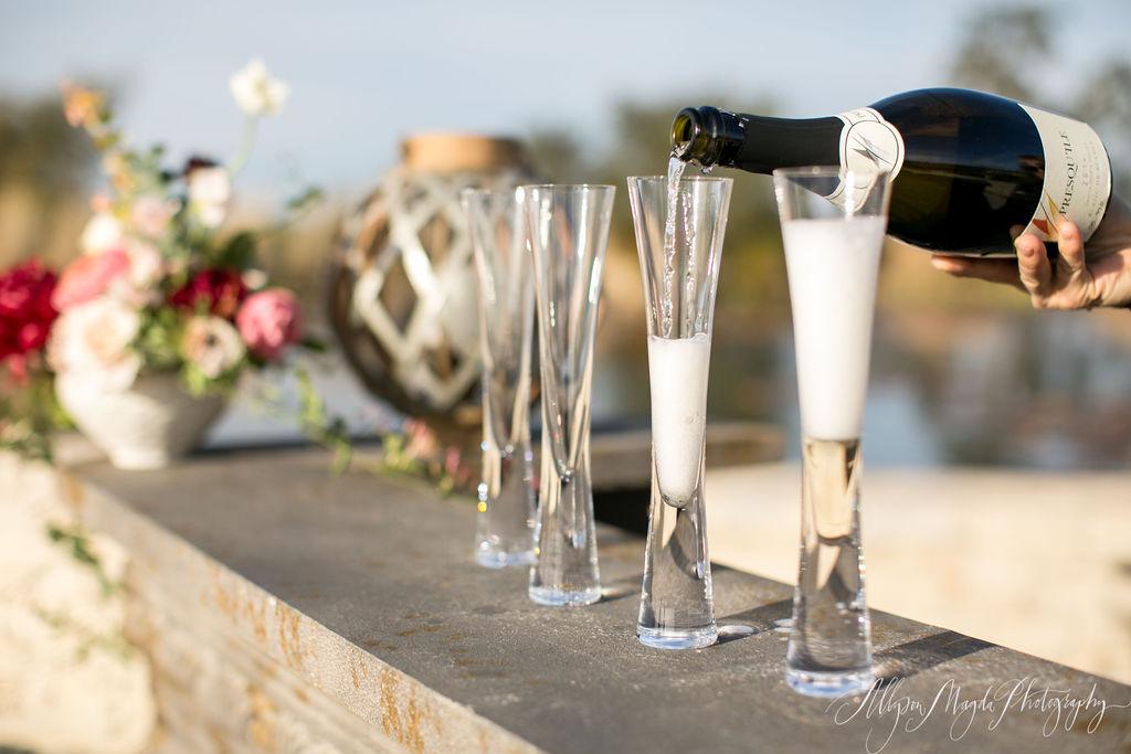 www.SantaBarbaraWedding.com | Presq'uile Winery | Sparkling Wine | Wedding Planner | Reception | Allyson Magda Photography