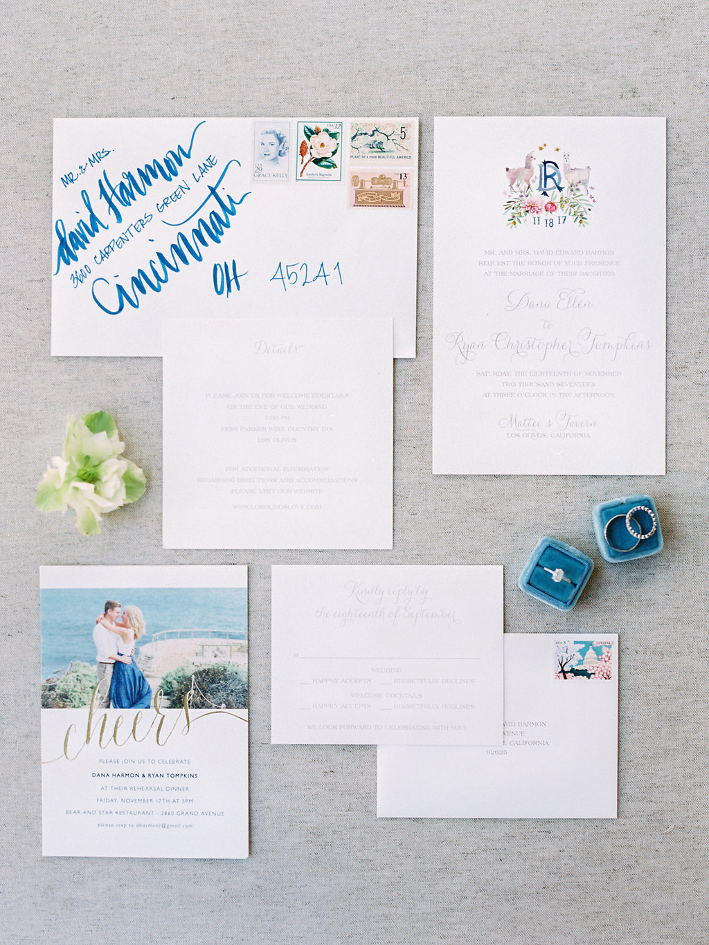 www.santabarbarawedding.com | Soleil Events | Mattei's Tavern | Invitations