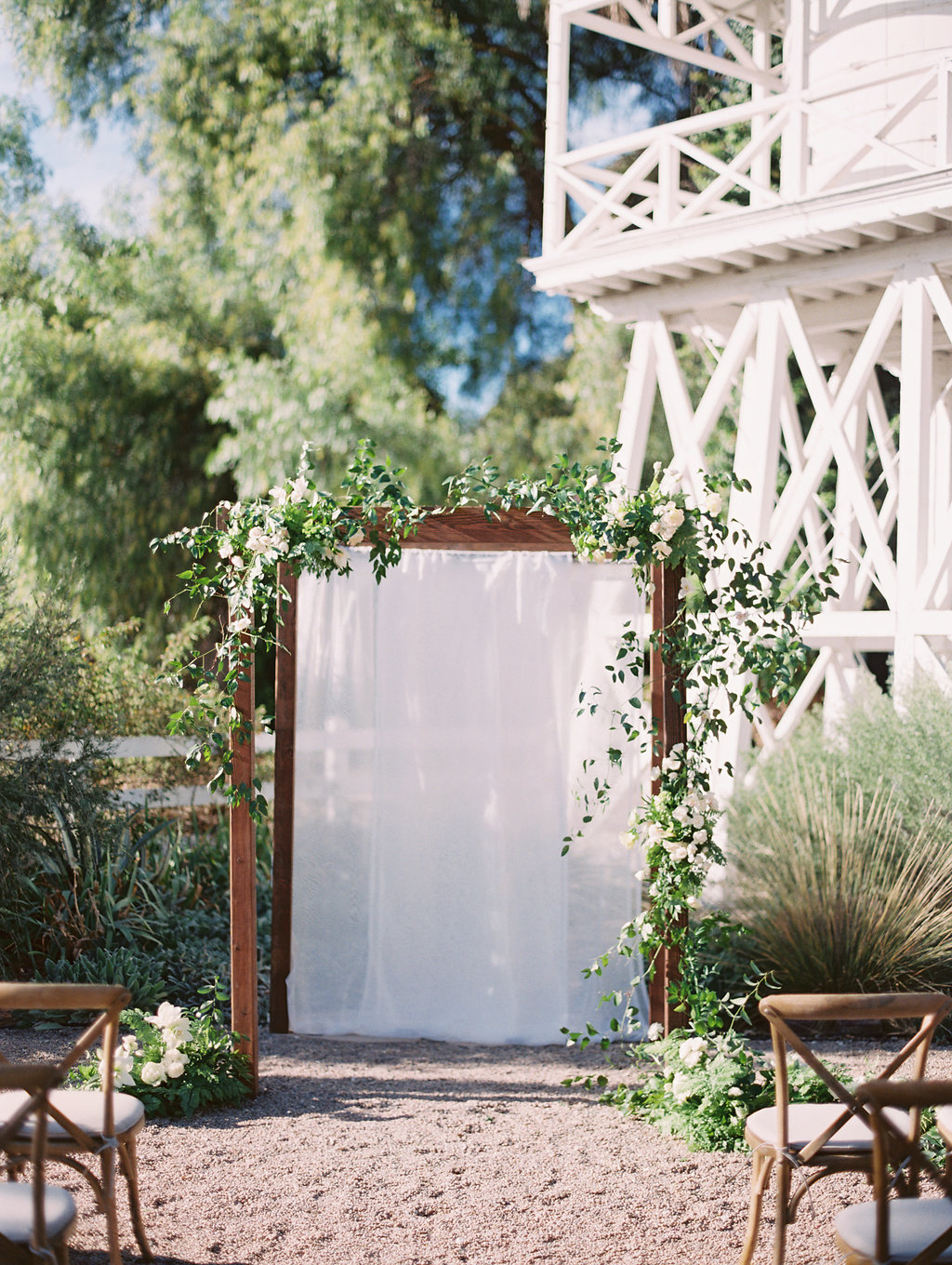 www.santabarbarawedding.com | Soleil Events | Mattei's Tavern | Ceremony Arch