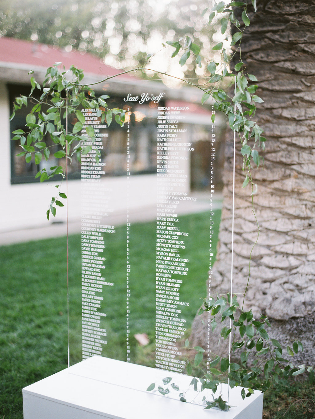 www.santabarbarawedding.com | Soleil Events | Mattei's Tavern | Acrylic Seating Chart