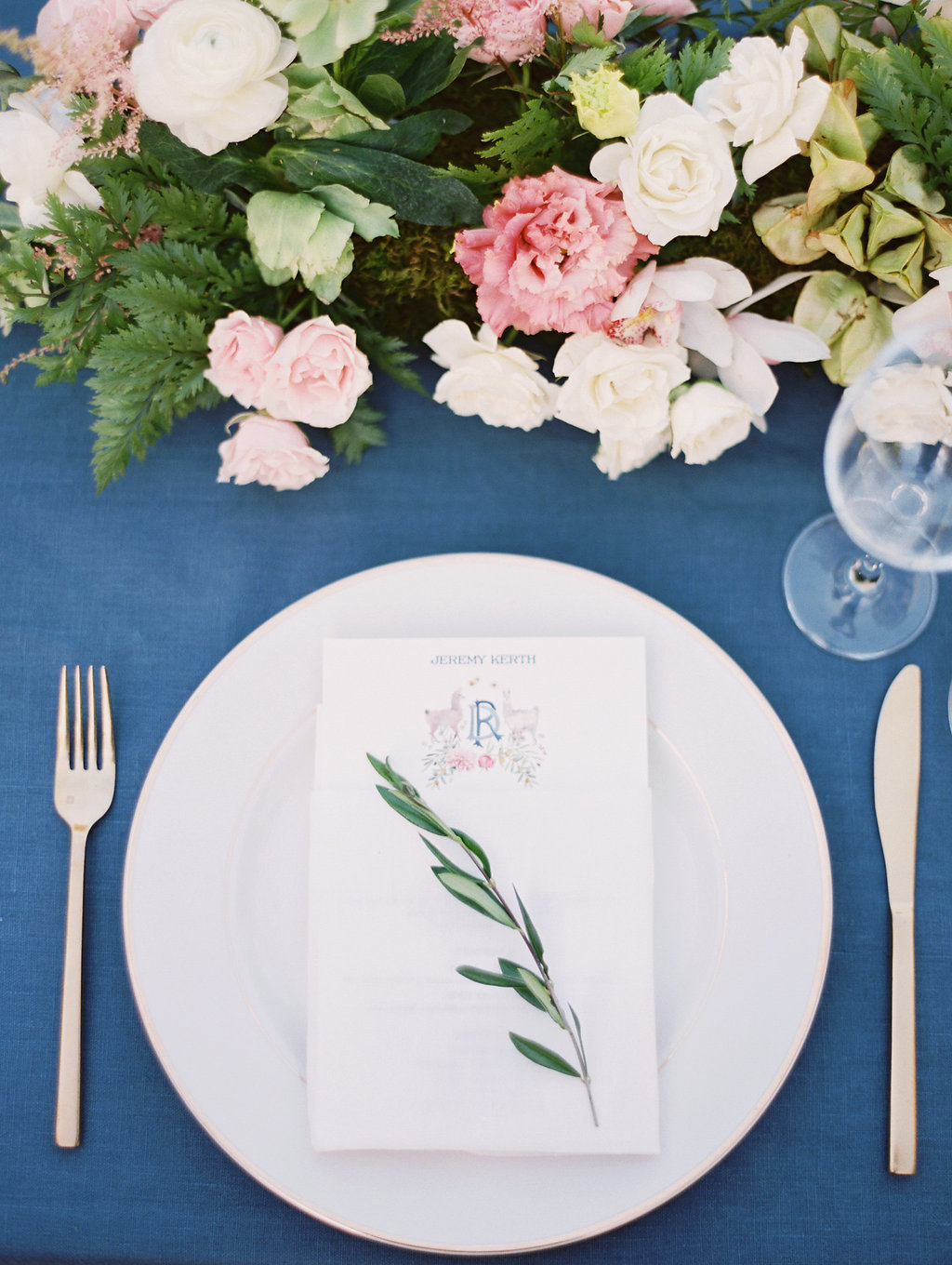 www.santabarbarawedding.com | Soleil Events | Mattei's Tavern | Place Setting
