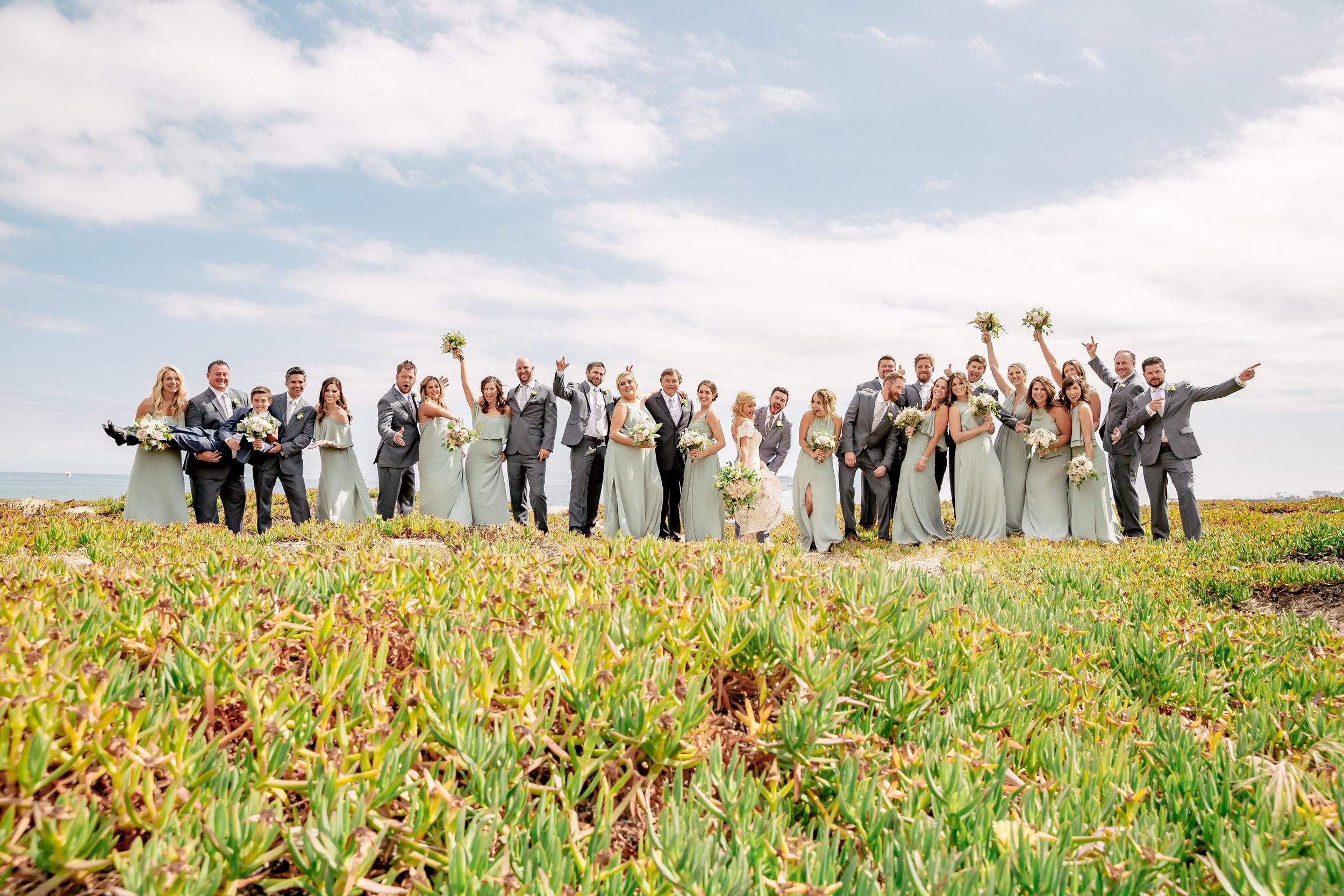 www.santabarbarawedding.com   Rewind Photography   Wedding Party   Pantone Color Bridesmaid dresses