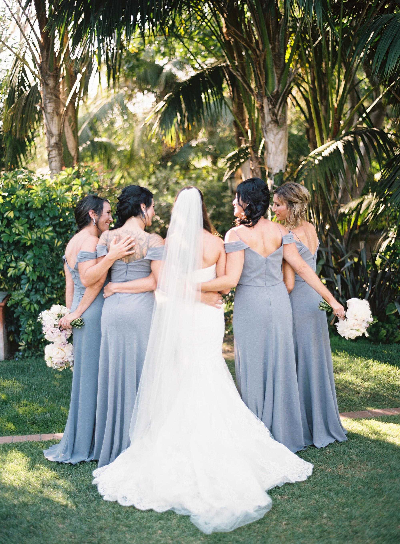 www.SantaBarbaraWedding   slate bridesmaid dresses   bridesmaid dresses