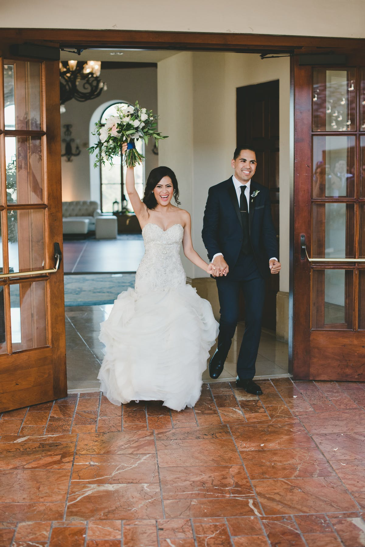 www.santabarbarawedding.com | Bacara Resort & Spa | Alegria By Design | onelove photography | Bride and Groom's entrance