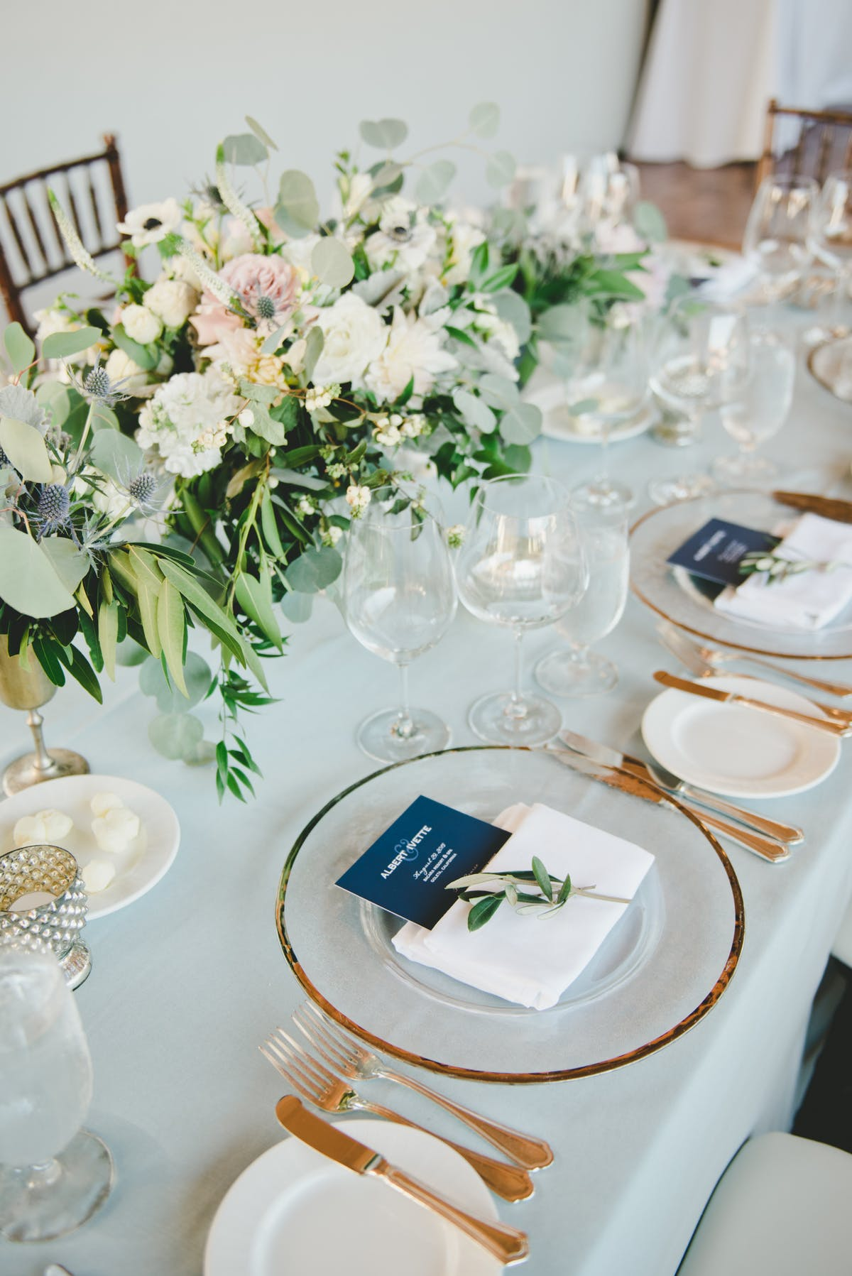 www.santabarbarawedding.com | Bacara Resort & Spa | Alegria By Design | onelove photography | Reception Place Setting