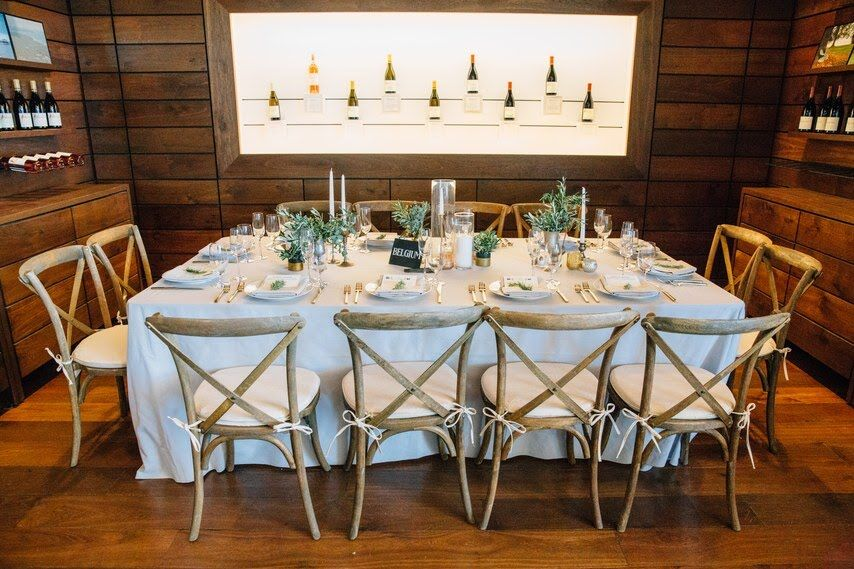 www.santabarabawedding.com | Photographer:Michael Stephens Photography | Venue:Presqu'ile Winery | Wedding Planner: Korinna Peterson of Le Festin Events | Reception Table