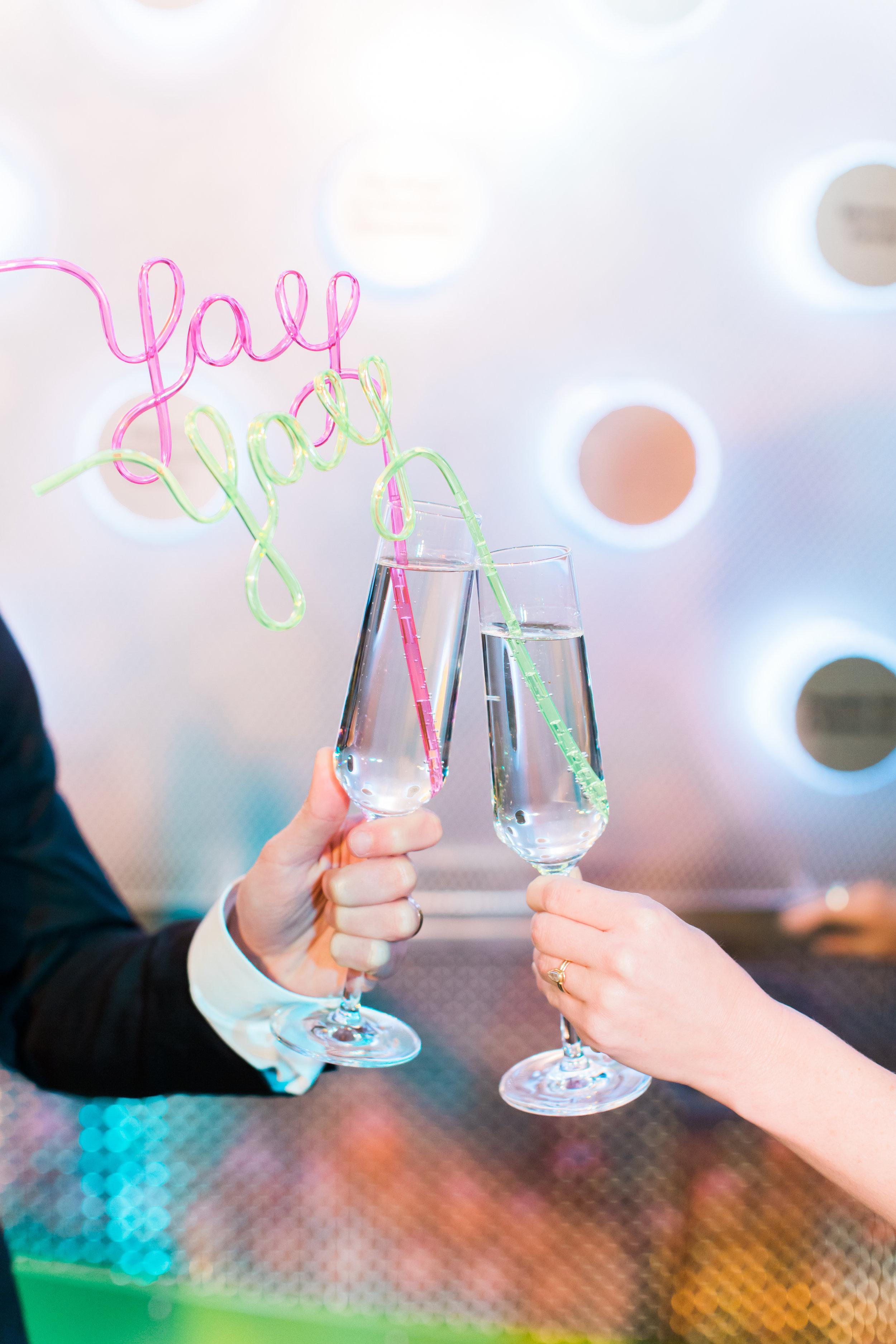 www.santabarbarawedding.com | Ann Johnson Events | MOXI | James & Jess | Champagne Flutes