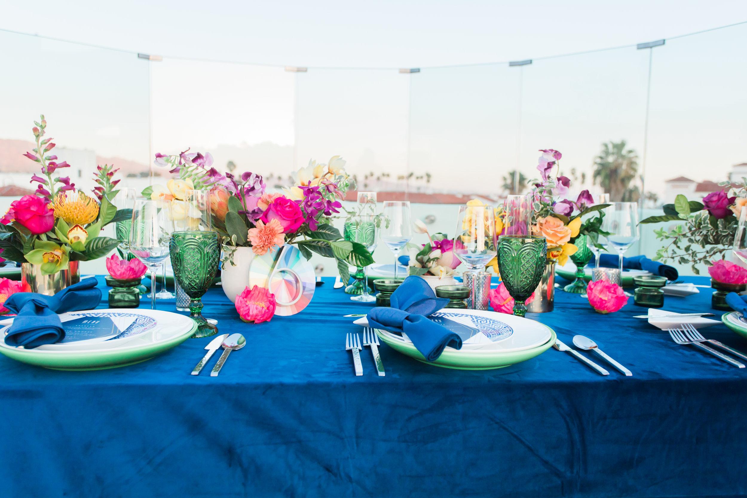 www.santabarbarawedding.com | Ann Johnson Events | MOXI | James & Jess | Reception Table
