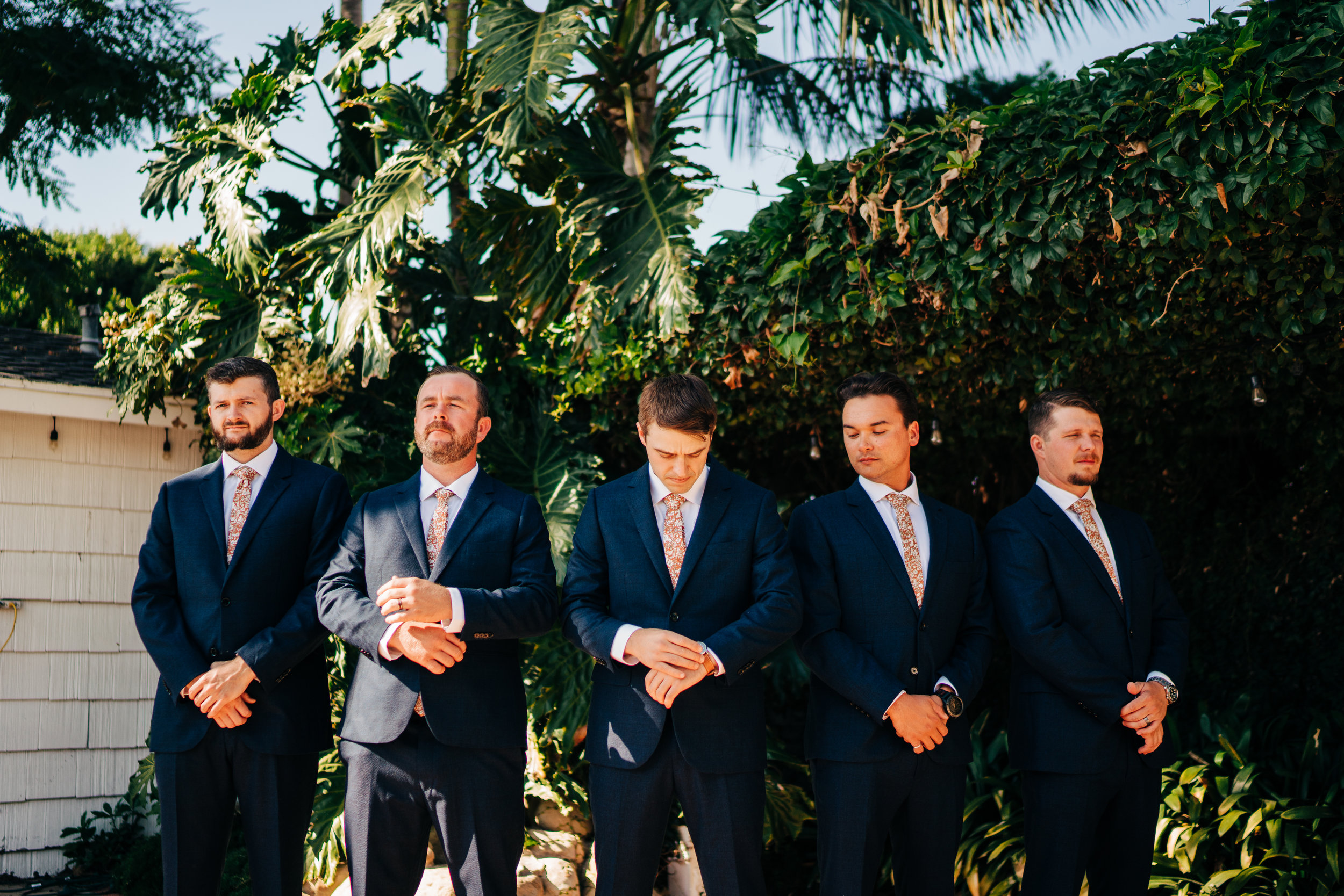 www.santabarbarawedding.com | Brandon Bibbins Photography | The Cottages at Polo Run | Groomsmen