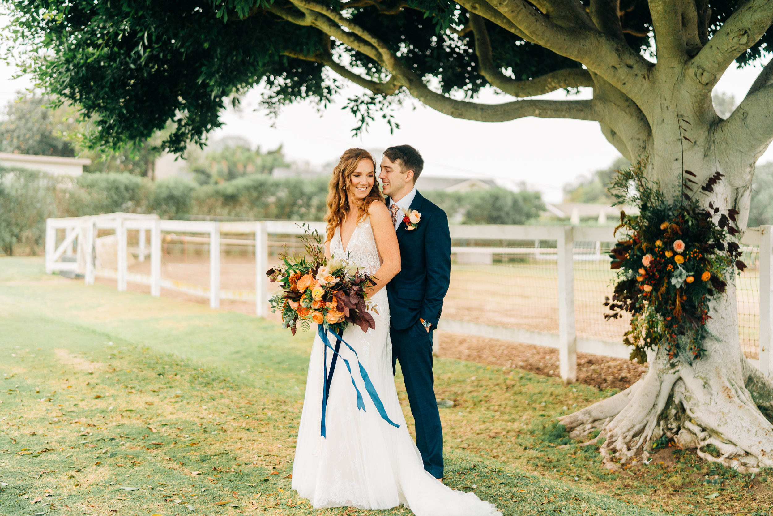 www.santabarbarawedding.com | Brandon Bibbins Photography | The Cottages at Polo Run | Christina Welch Floral | Couple Shares a Moment