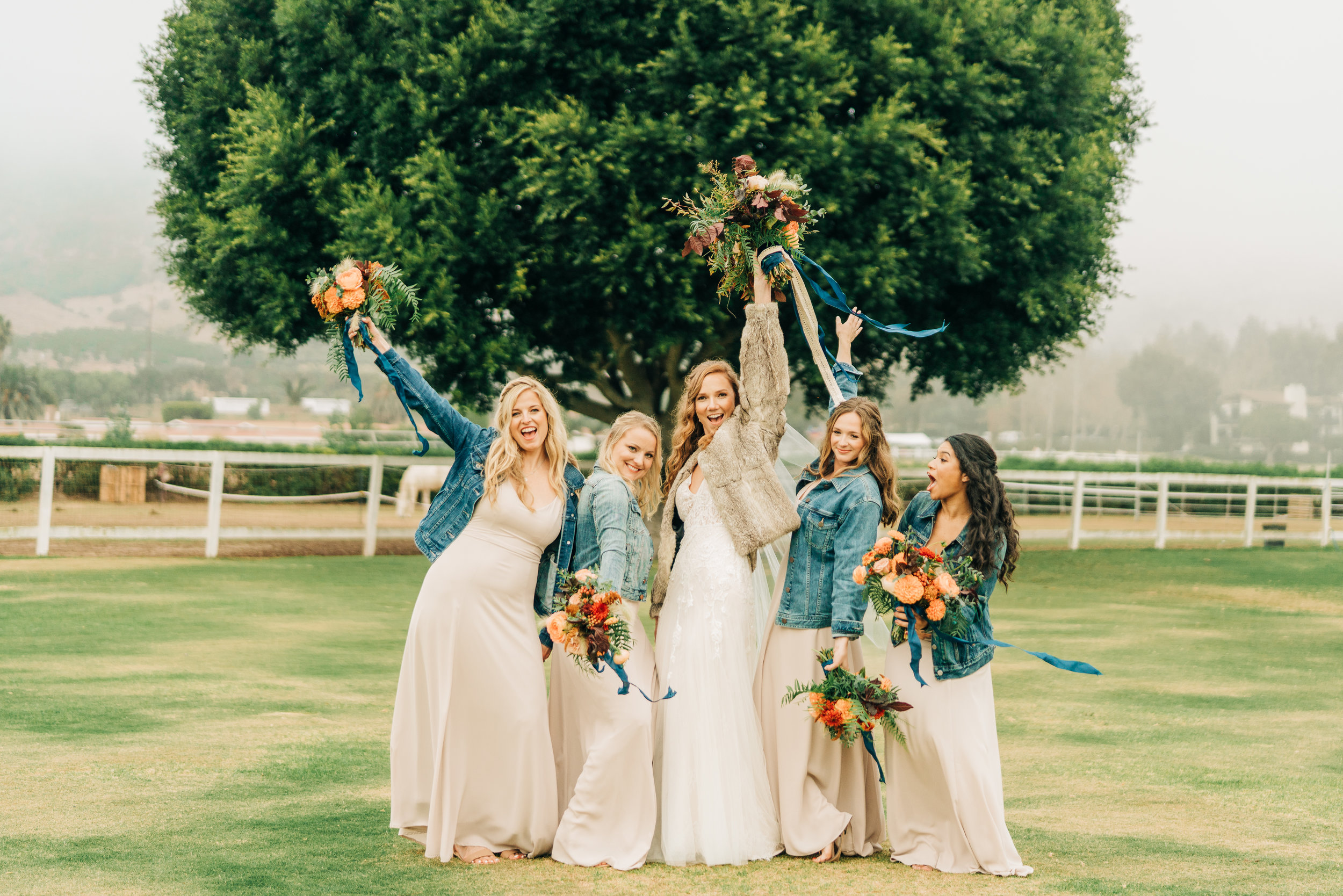 www.santabarbarawedding.com | Brandon Bibbins Photography | The Cottages at Polo Run | Lucy Salgado | Bridesmaids Celebrate
