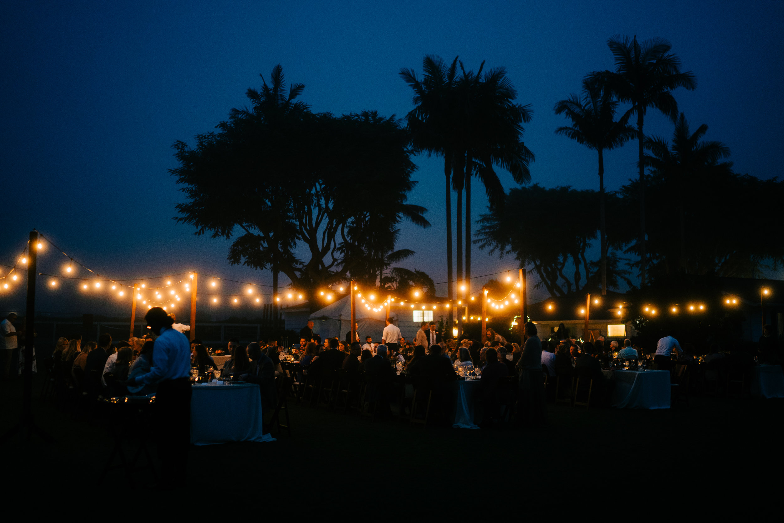 www.santabarbarawedding.com | Brandon Bibbins Photography | The Cottages at Polo Run | Bright Event Rentals | Lighted Reception at Night
